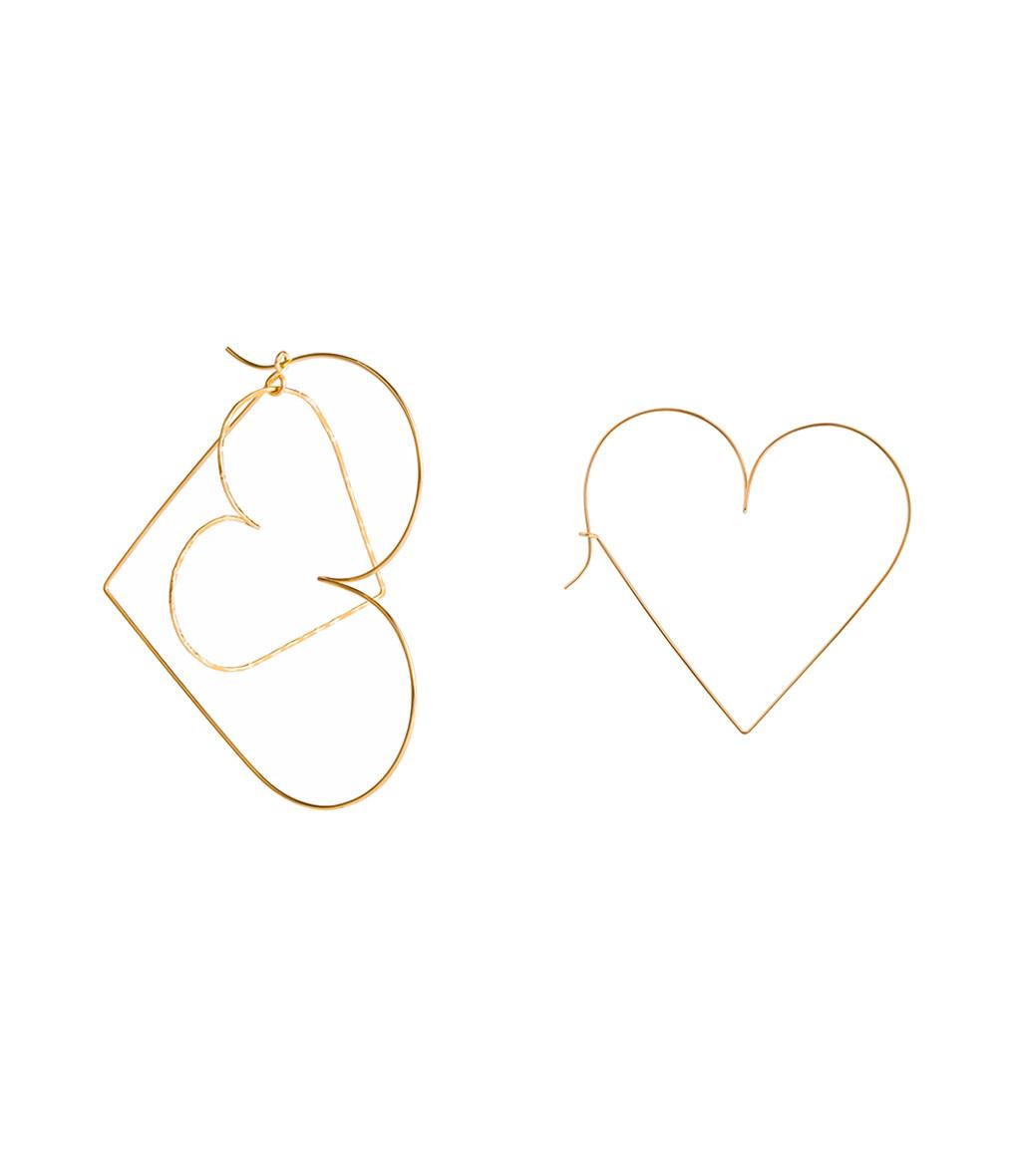 ATELIER PAULIN - Créoles Cœur à Prendre Gold Filled 14K