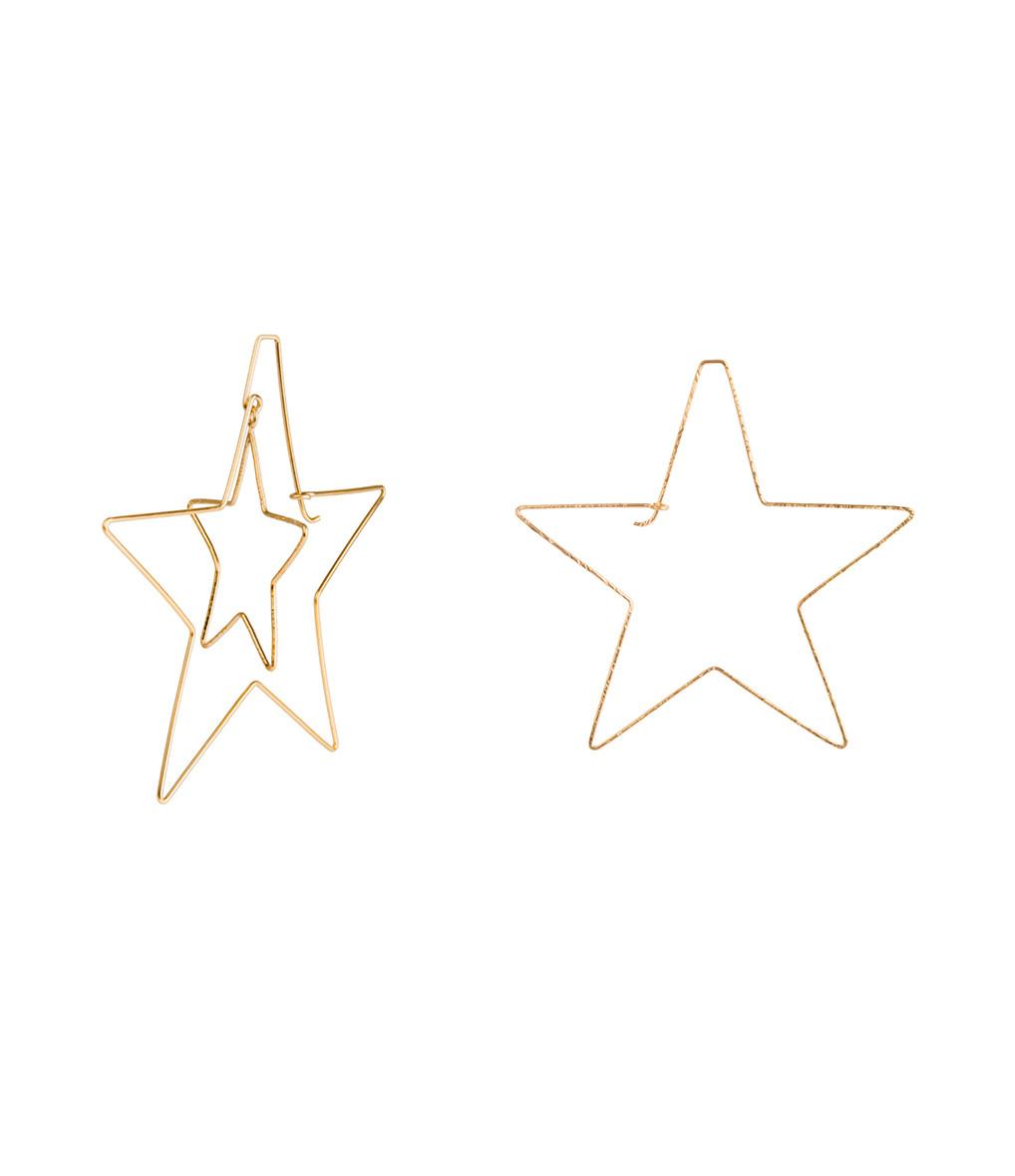 ATELIER PAULIN - Créoles Stellar Asymétrique Gold Filled 14K
