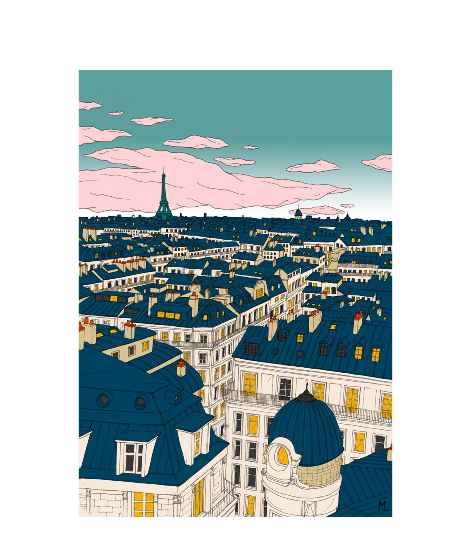 MAISON SARAH LAVOINE - Affiche Paris 30x40cm