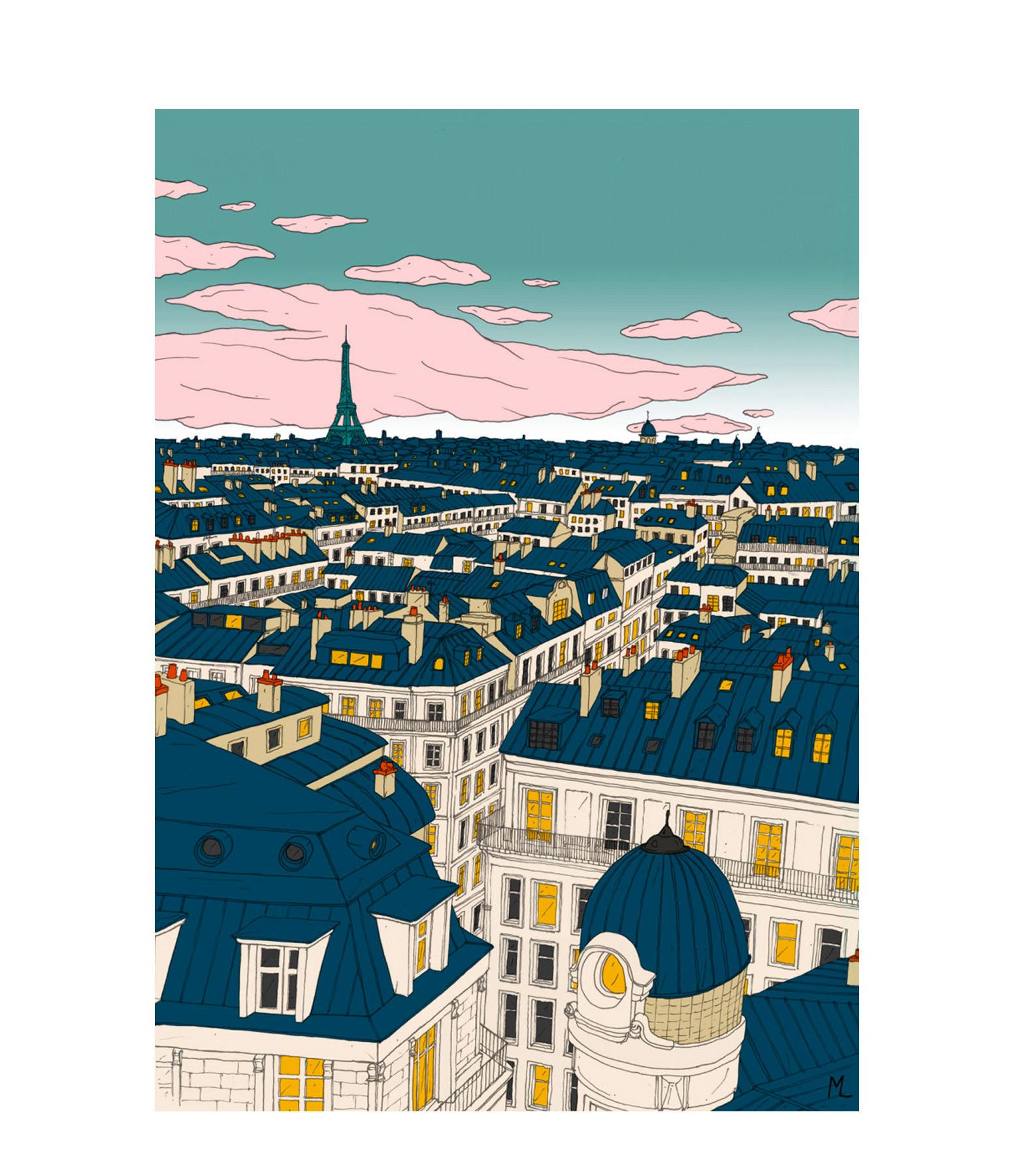 MAISON SARAH LAVOINE - Affiche Paris 50x70cm