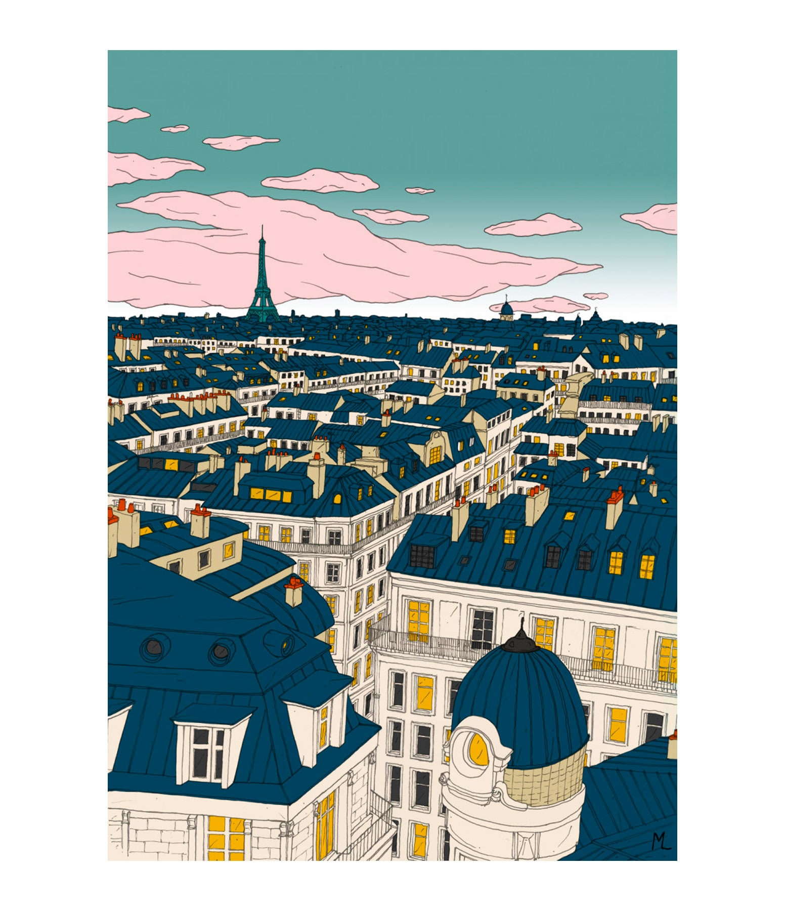 MAISON SARAH LAVOINE - Affiche Paris 56x76cm