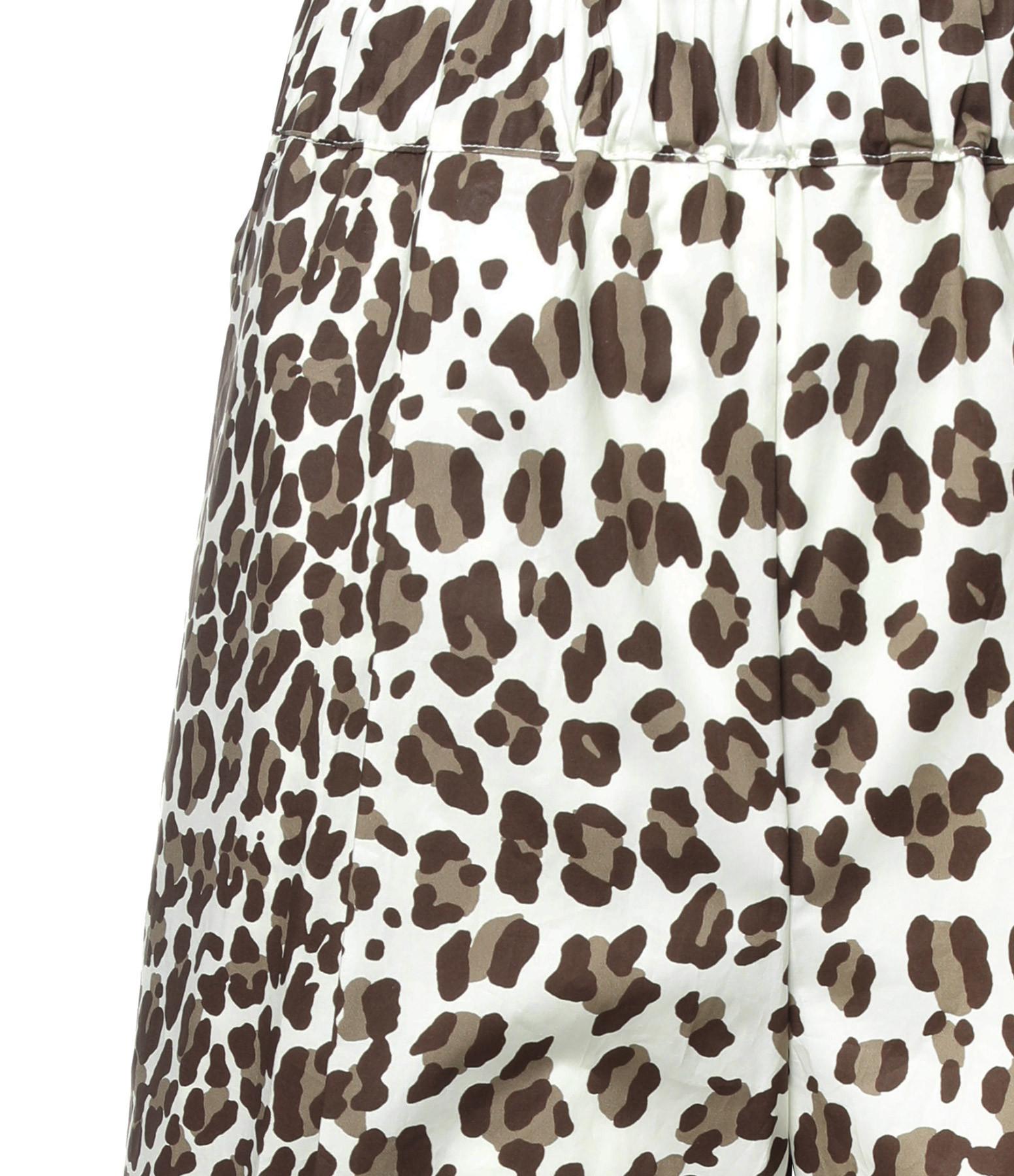 P.A.R.O.S.H. - Pantalon Ceopard Coton Marron