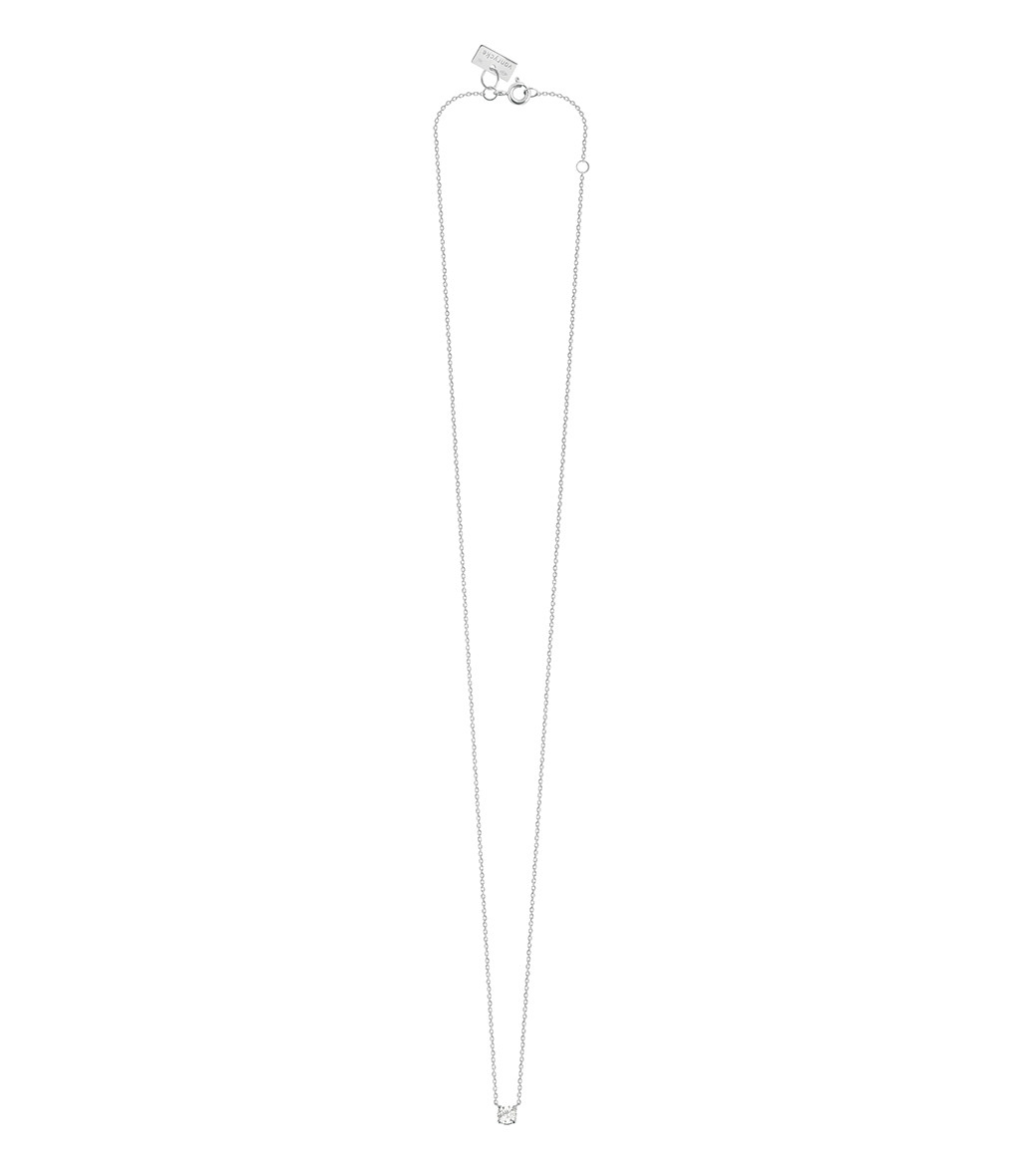VANRYCKE - Collier Valentine Or Blanc Diamant