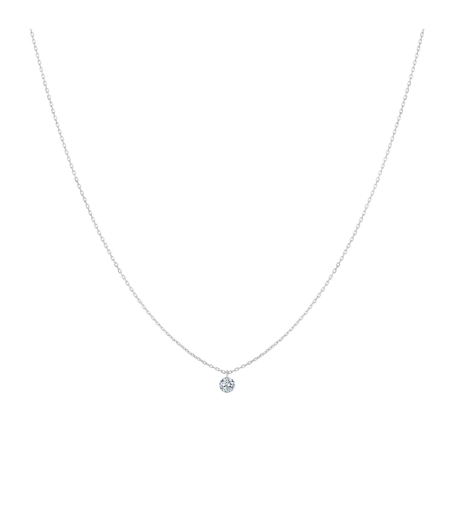 LA BRUNE & LA BLONDE - Collier 360° Diamant Brillant 0,10 Or Blanc