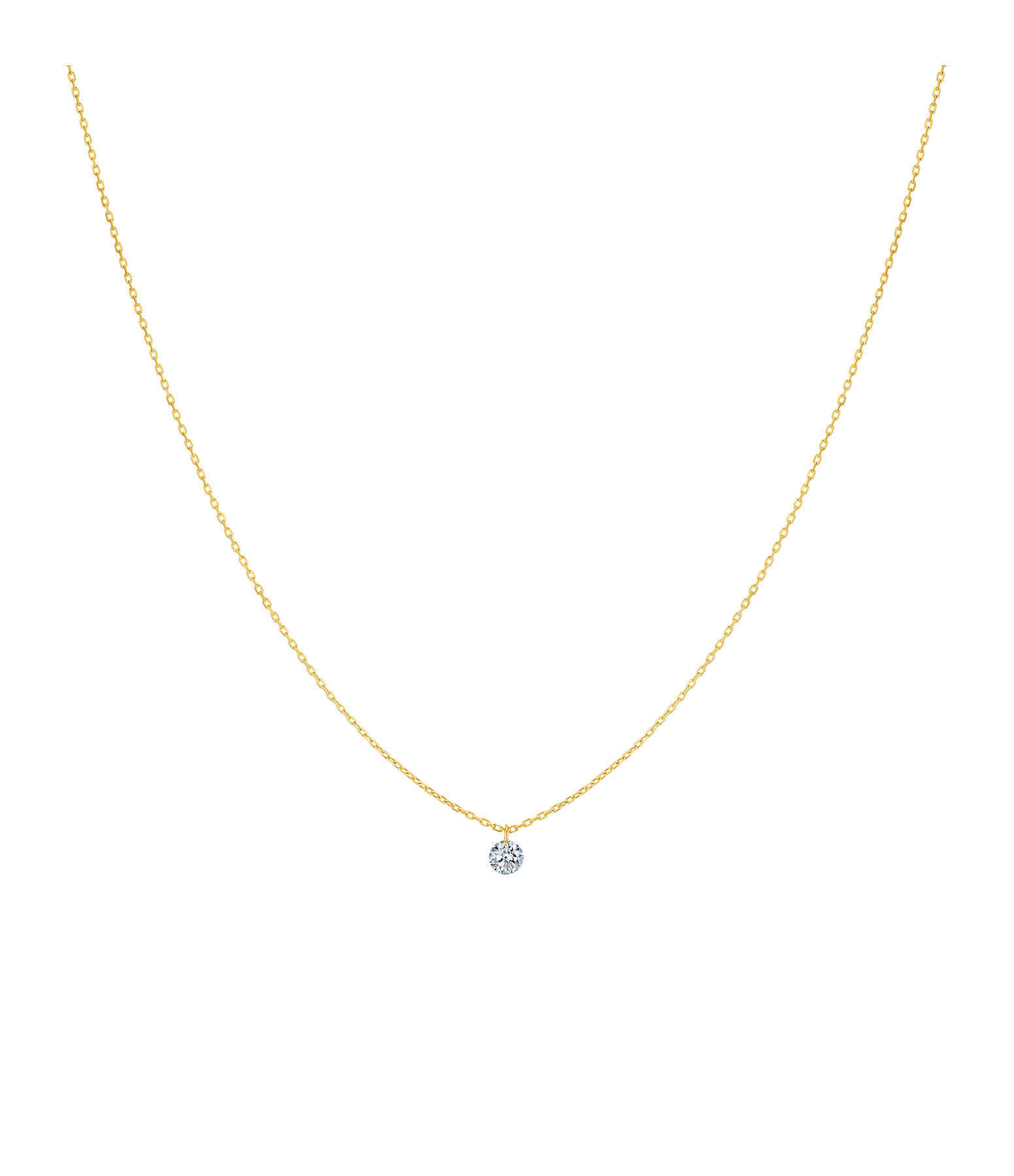 LA BRUNE & LA BLONDE - Collier 360° Diamant Brillant 0,10 Or Jaune