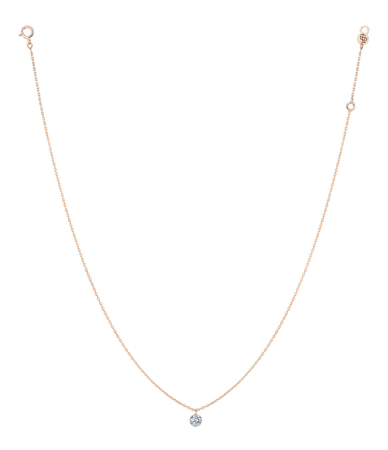 LA BRUNE & LA BLONDE - Collier 360° Diamant Brillant 0,20 Or Rose