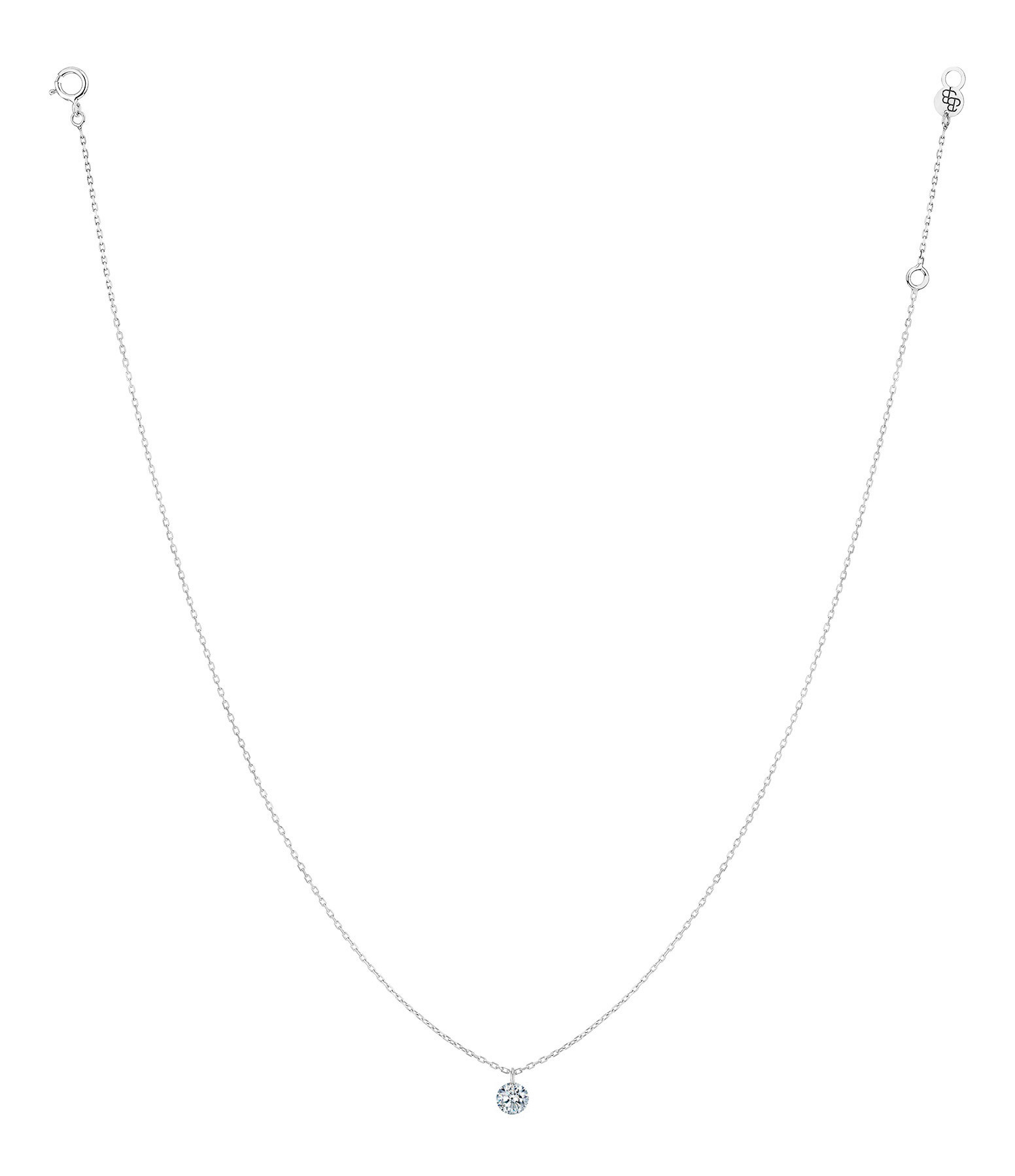 LA BRUNE & LA BLONDE - Collier 360° Diamant Brillant 0,20 Or Blanc