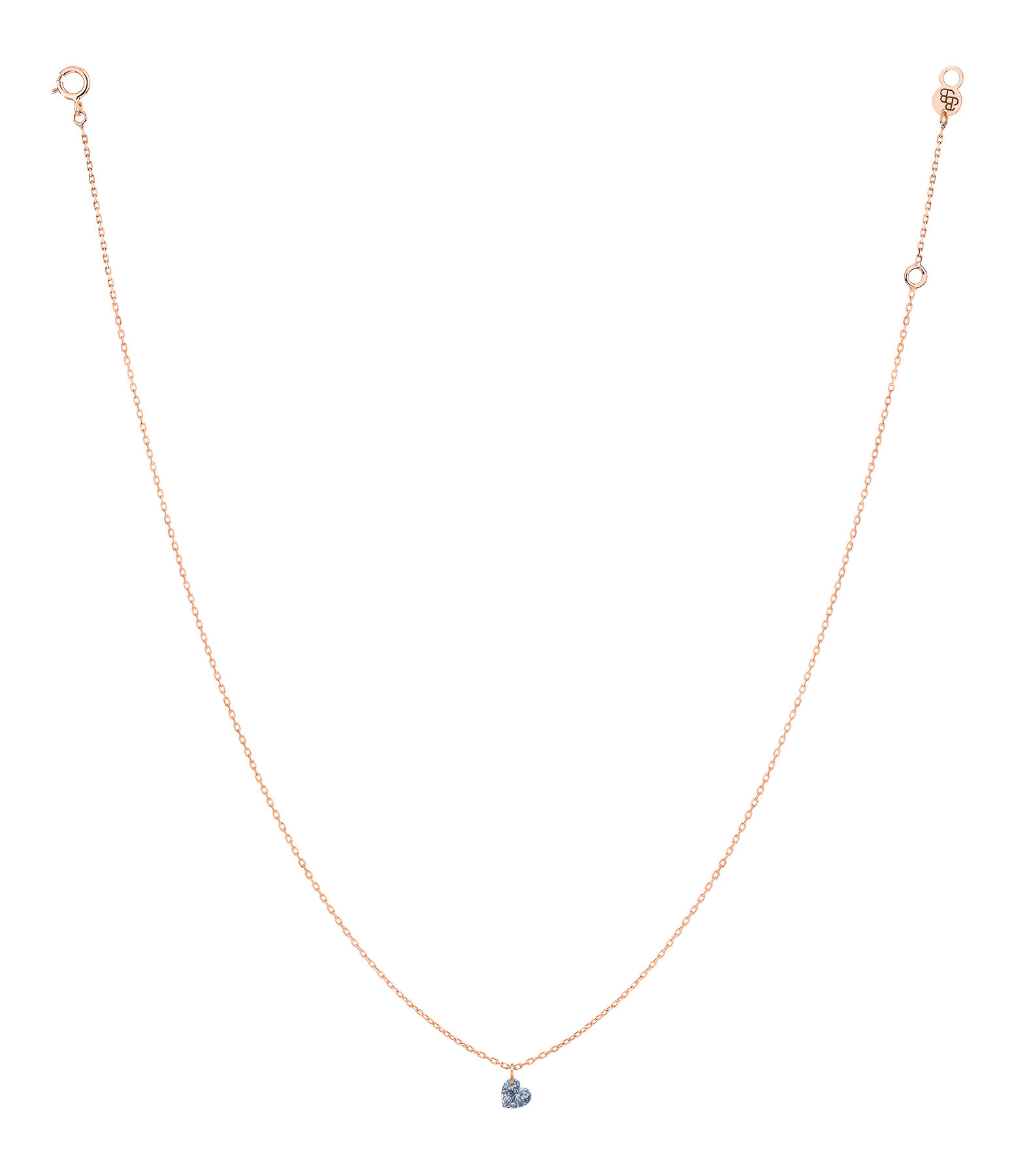 LA BRUNE & LA BLONDE - Collier 360° Cœur Diamant 0,15 Or Rose