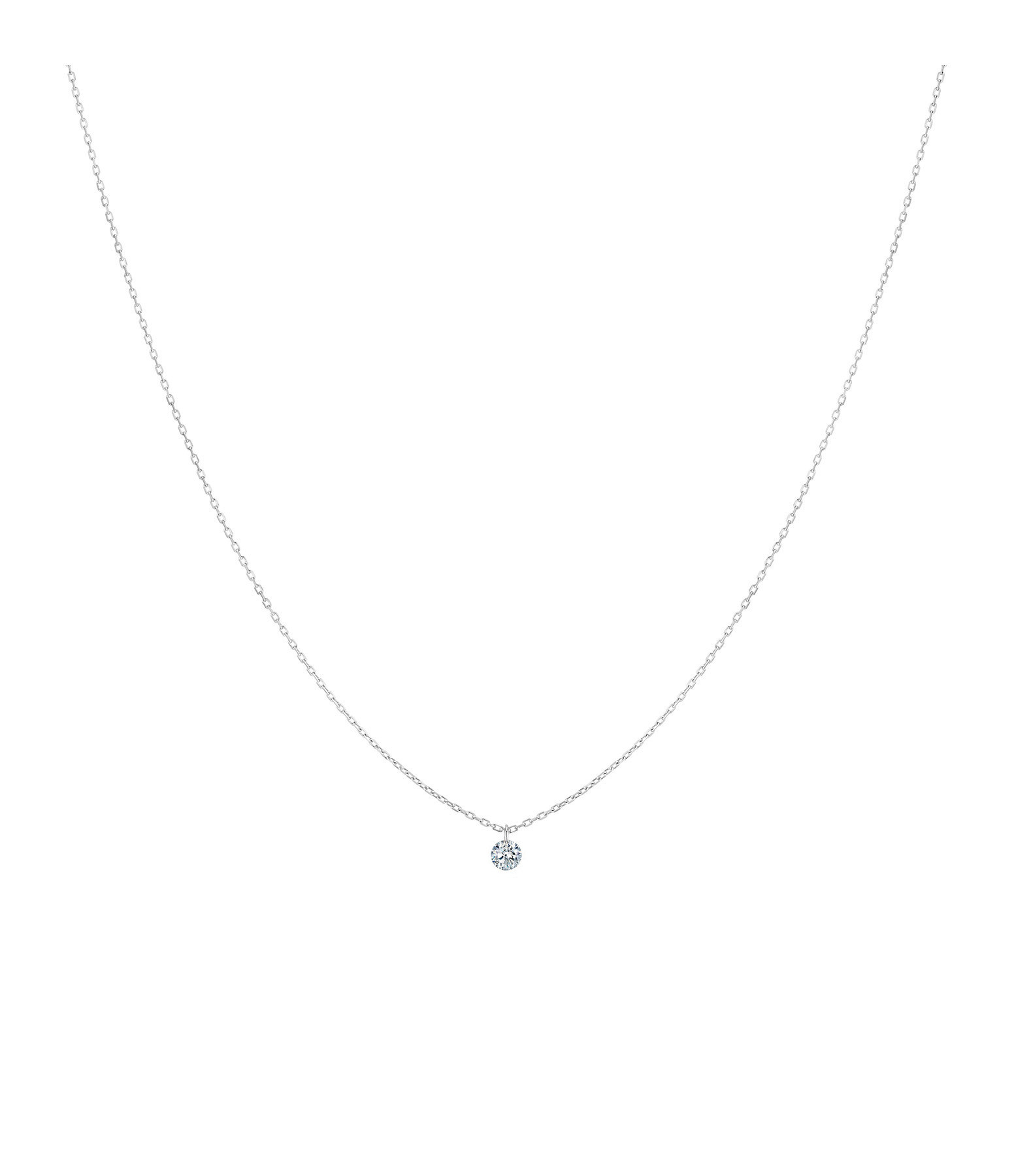 LA BRUNE & LA BLONDE - Collier 360° Diamant Brillant 0,07 Or Blanc