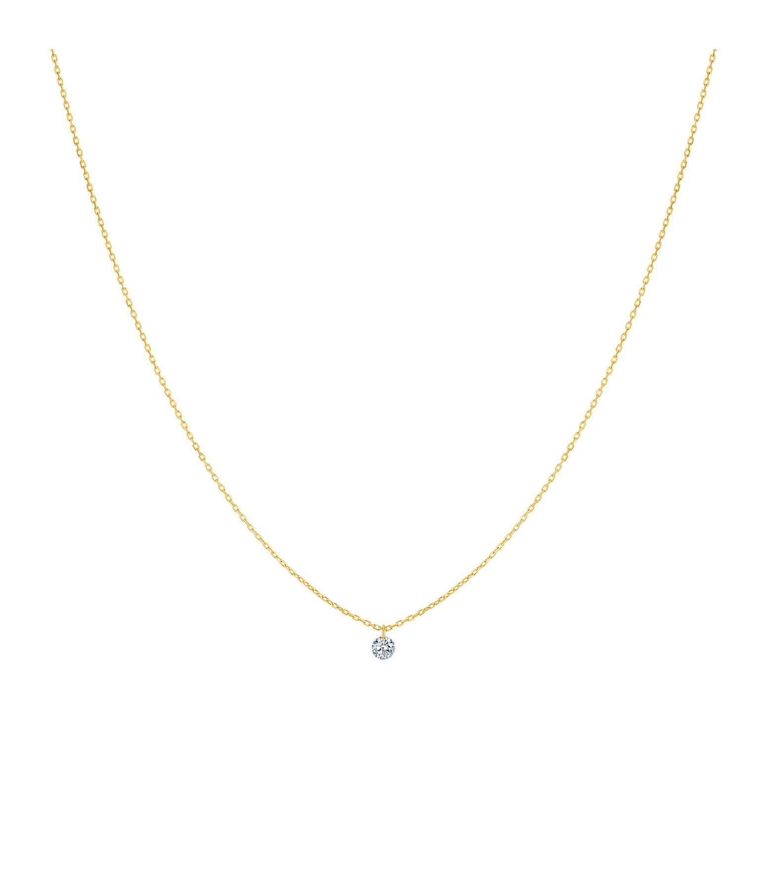 LA BRUNE & LA BLONDE - Collier 360° Diamant Brillant 0,07 Or Jaune