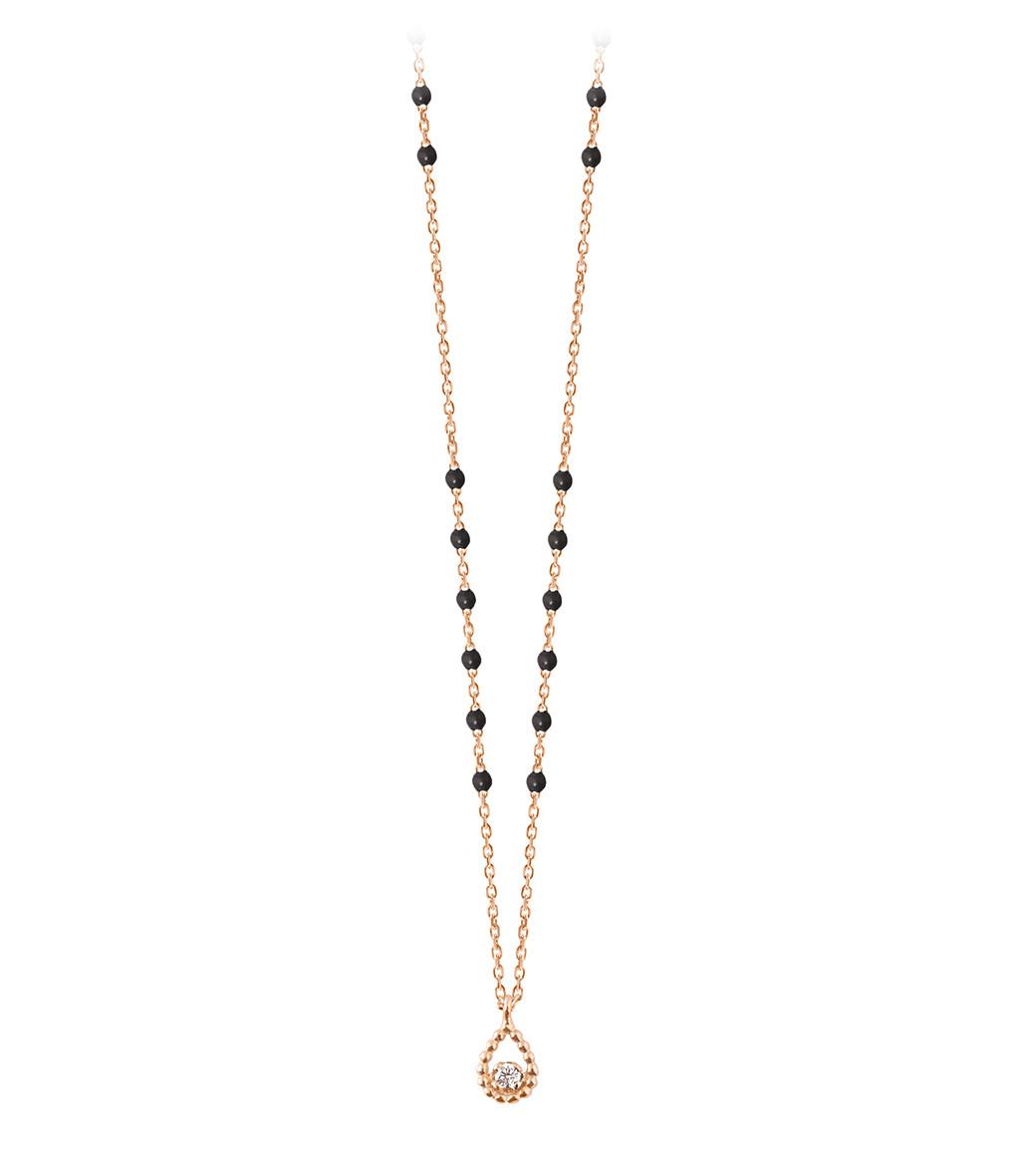 GIGI CLOZEAU - Collier Mini Perles Résine Poire Or