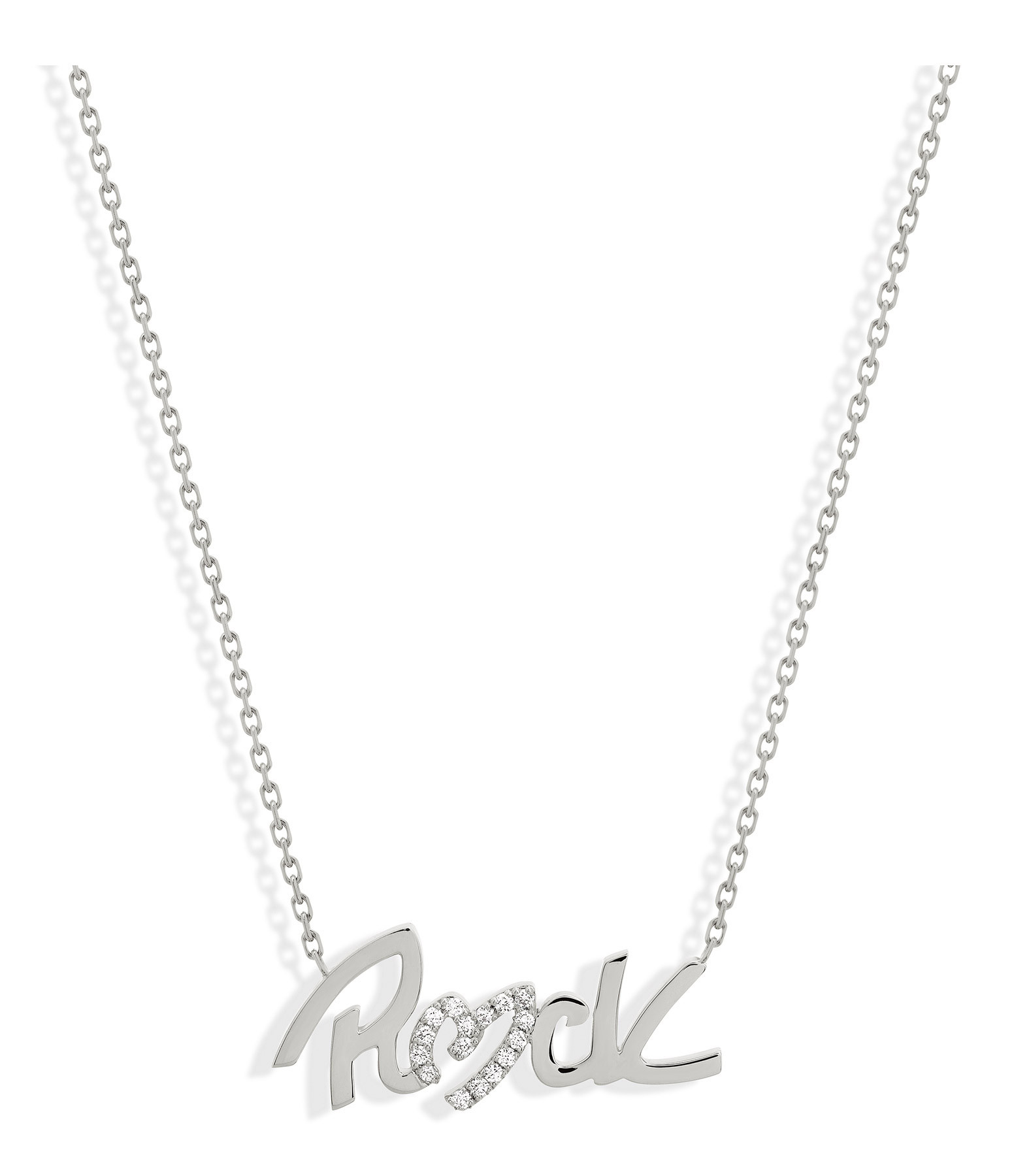 NAVA JOAILLERIE - Collier Rock Diamant Or Blanc