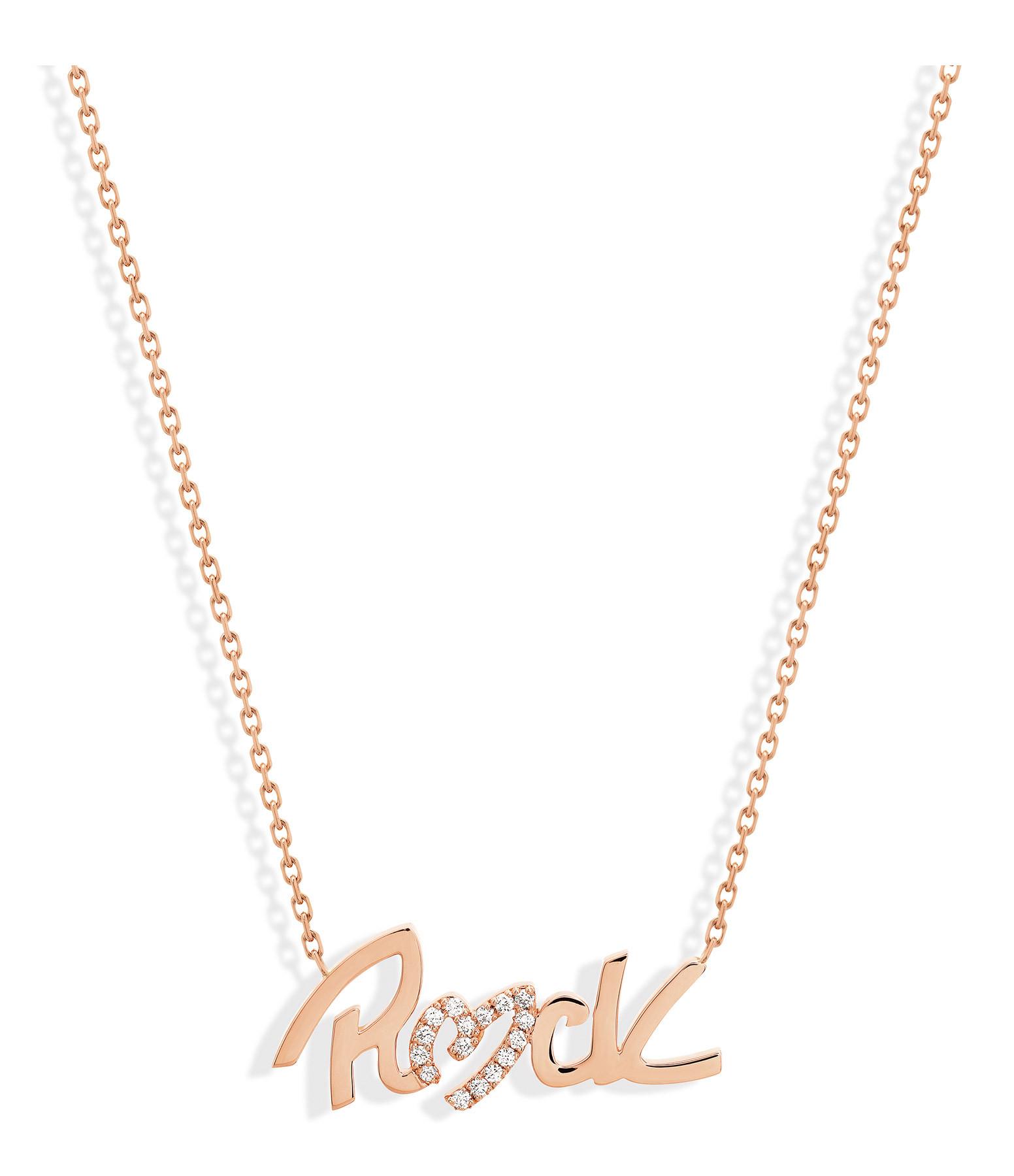 NAVA JOAILLERIE - Collier Rock Diamant Or Rose
