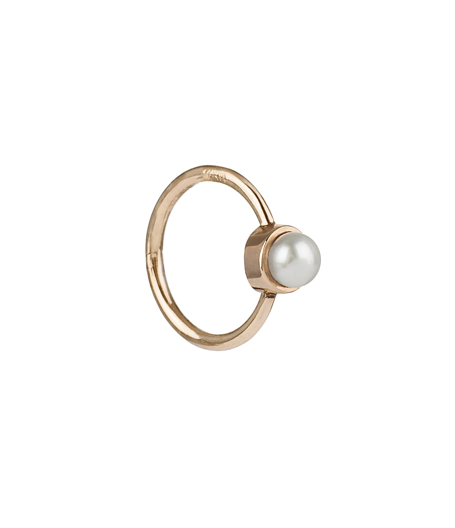 YANNIS SERGAKIS - Créole Medium Or Perle (vendue à l'unité)