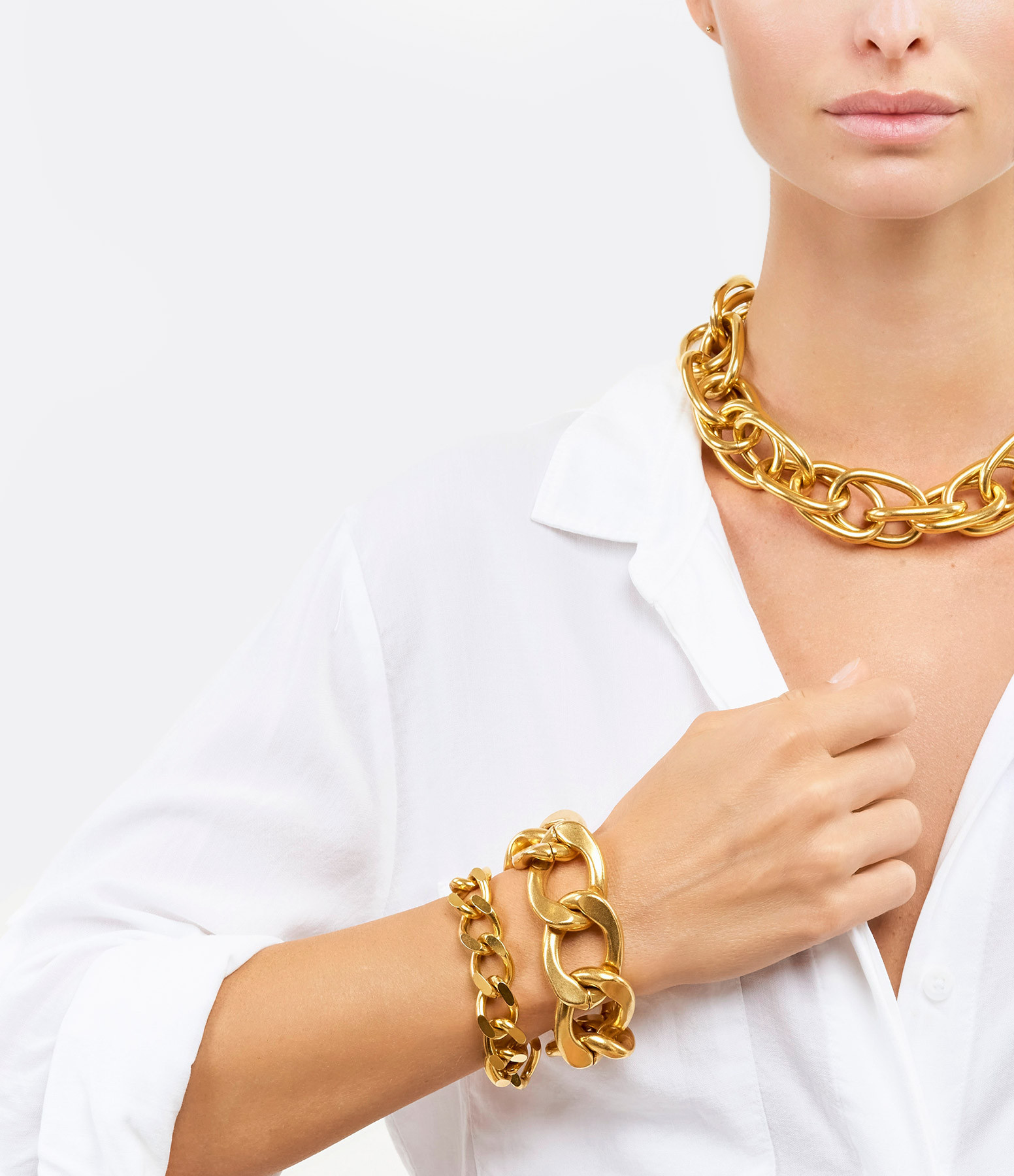 PERRINE TAVERNITI - Bracelet Babylone Plaqué Or