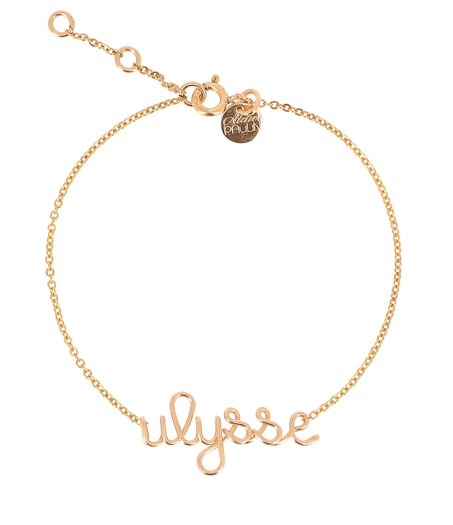 ATELIER PAULIN - Bracelet Original Richelieu Personnalisable Gold Filled Or jaune