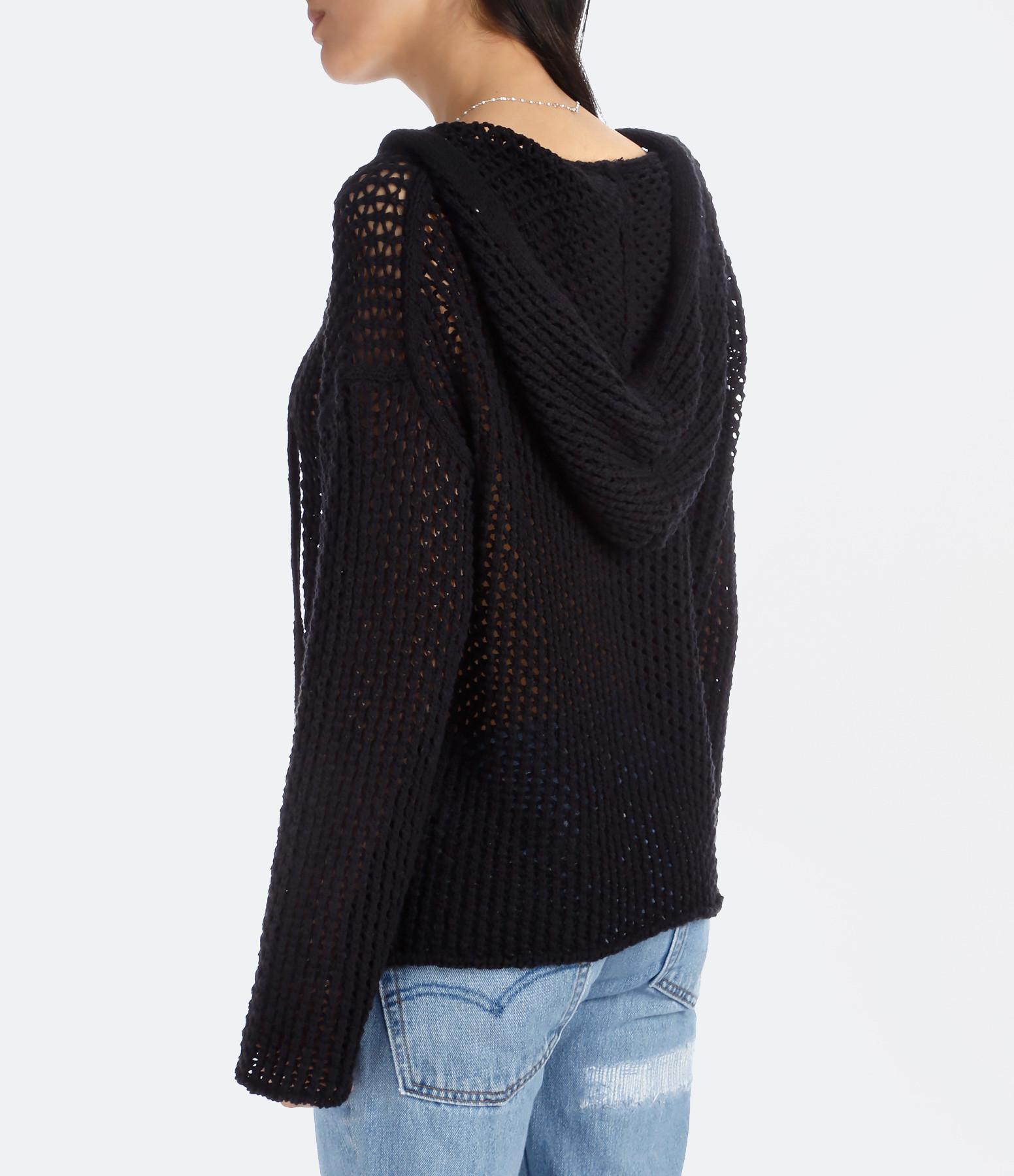 Pull Maisie Coton Lin Noir - NILI LOTAN