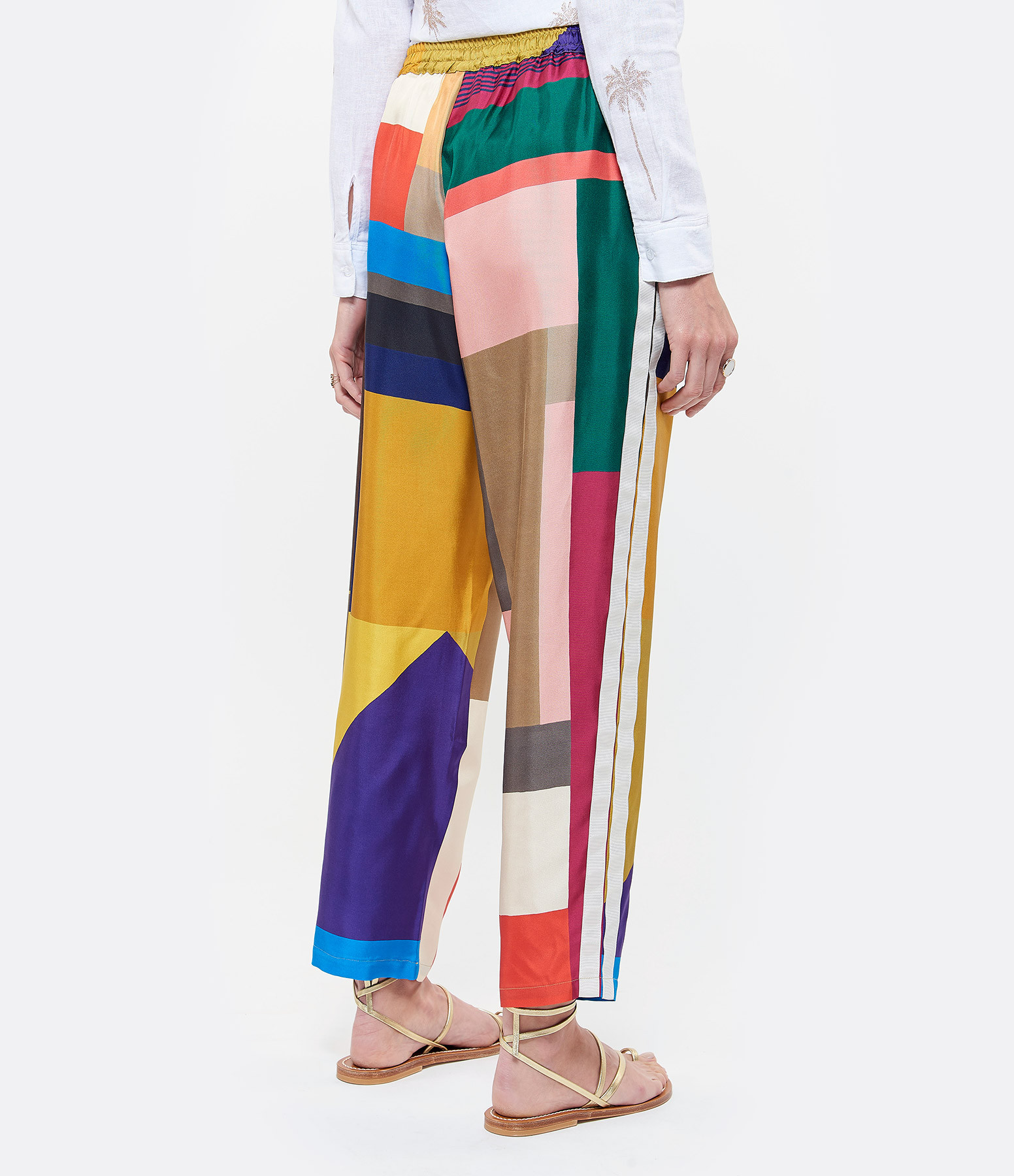 PIERRE-LOUIS MASCIA - Pantalon Aloe Soie Multicolore