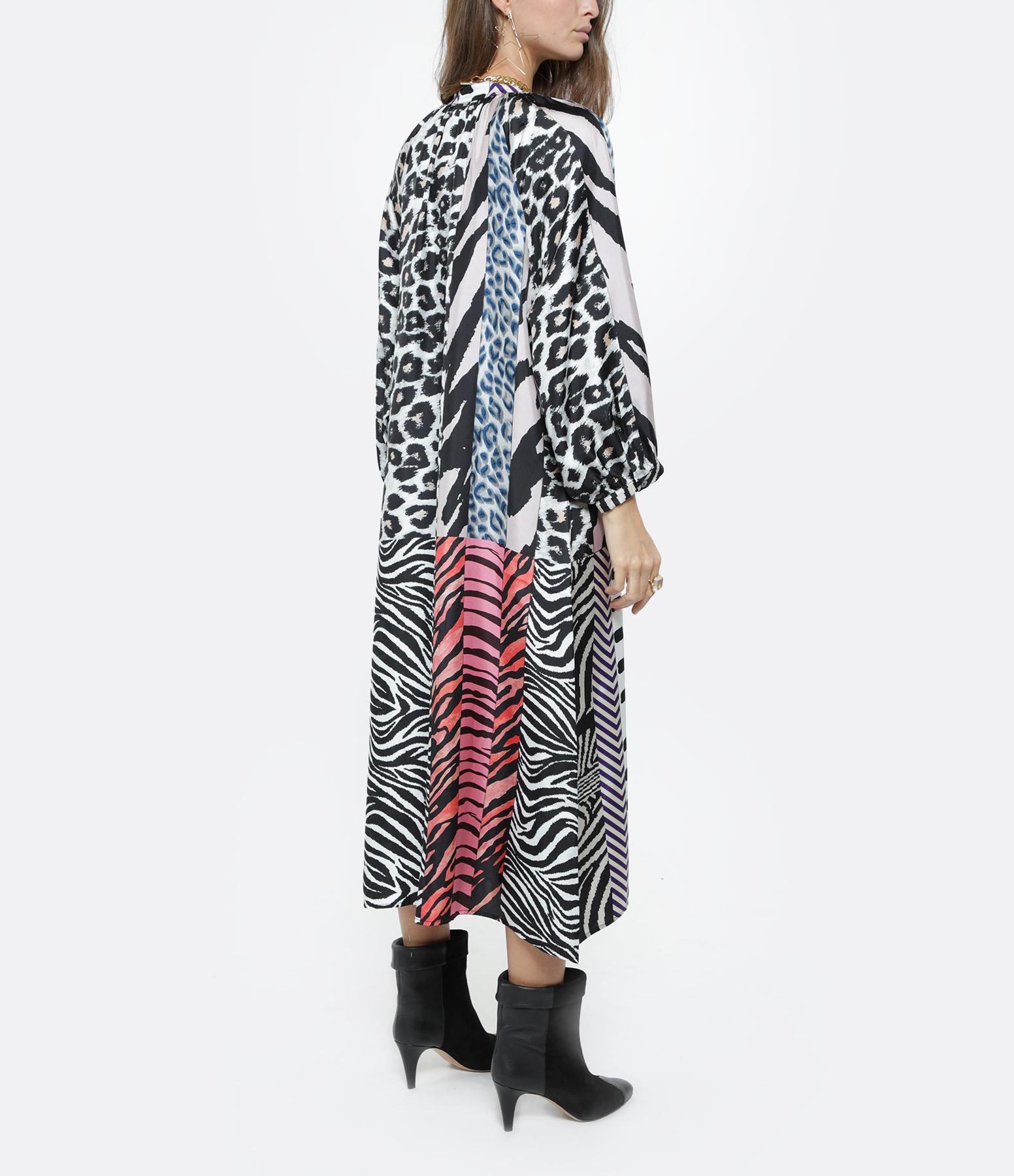 PIERRE-LOUIS MASCIA - Robe Aloe Soie Imprimé Animal Multicolore