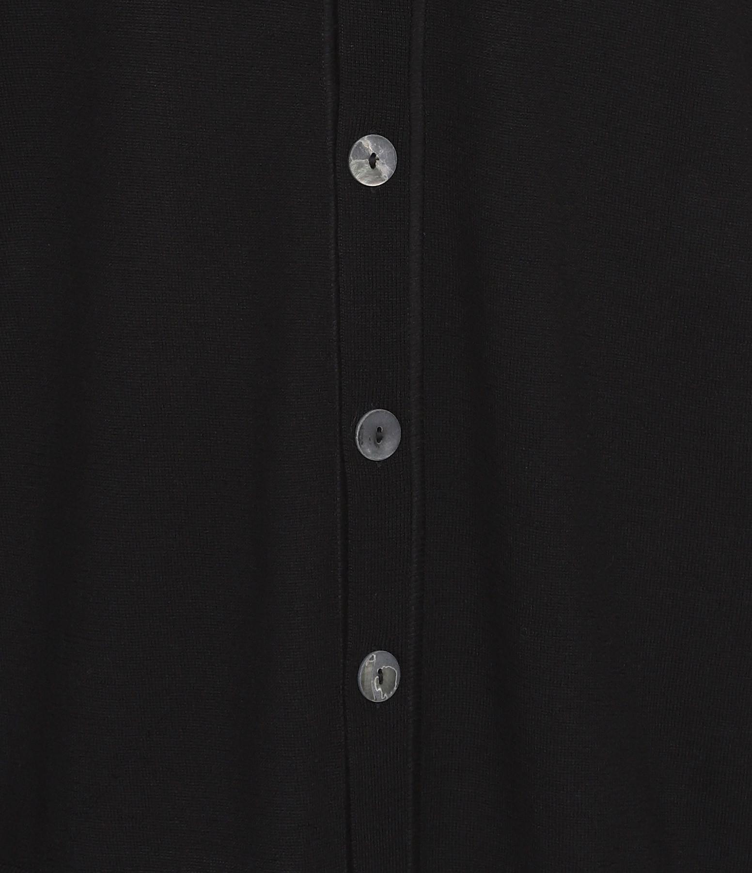 PIERRE-LOUIS MASCIA - Gilet Retro Aloe Laine Noir Imprimé Floral