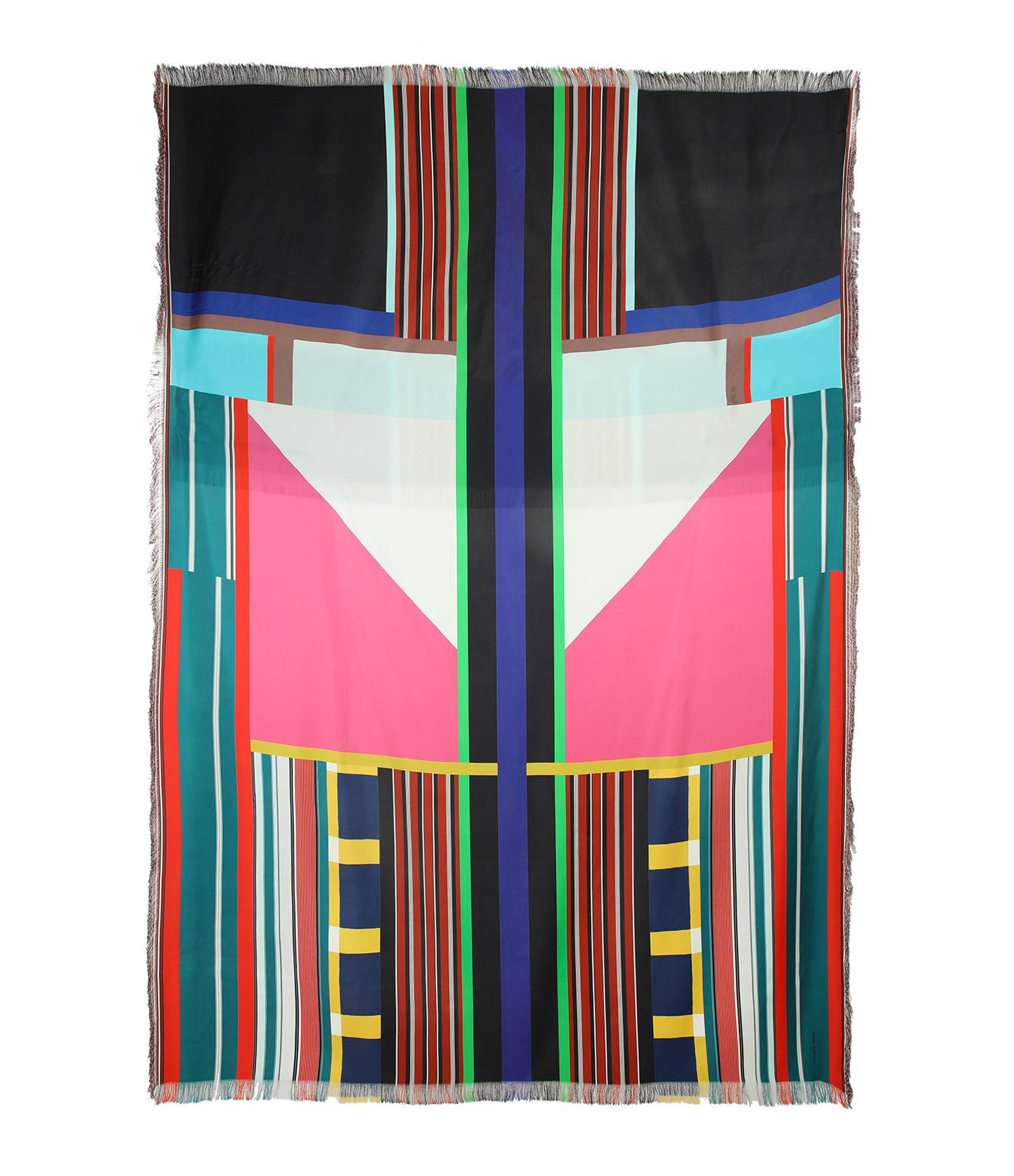 PIERRE-LOUIS MASCIA - Foulard Aloe Soie Rayures Multicolore