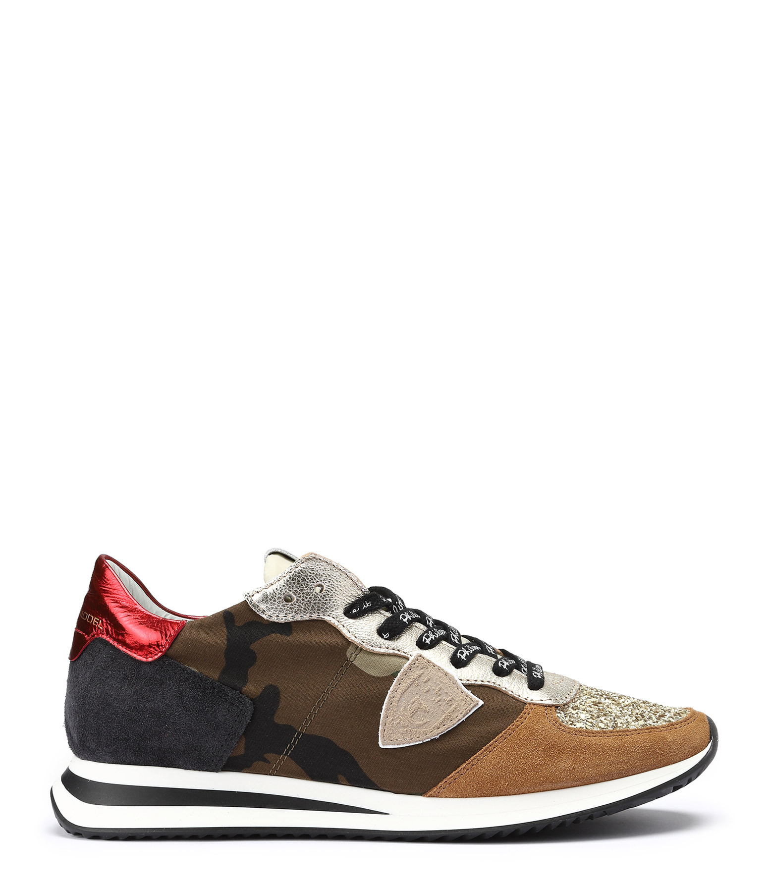 PHILIPPE MODEL - Baskets Trpx Paillettes Camouflage