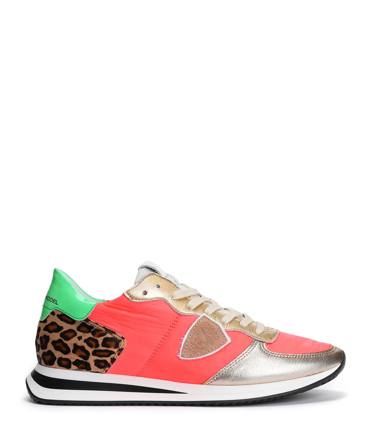 PHILIPPE MODEL - Baskets Trpx Neon Pop Corail
