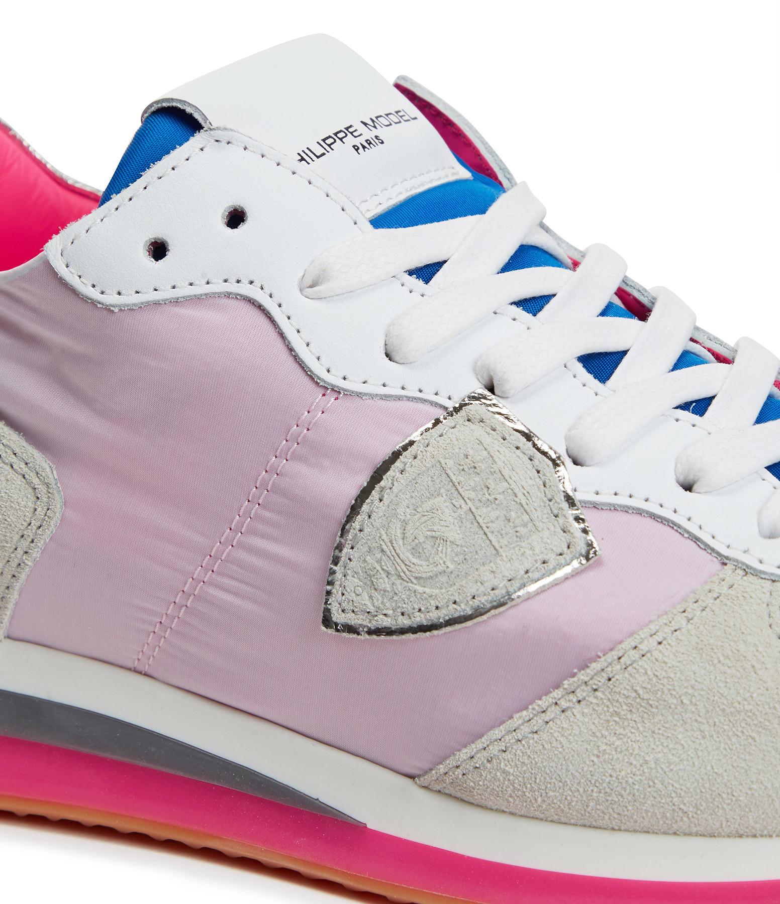 PHILIPPE MODEL - Baskets Trpx Neon Pop Blanc Fushia