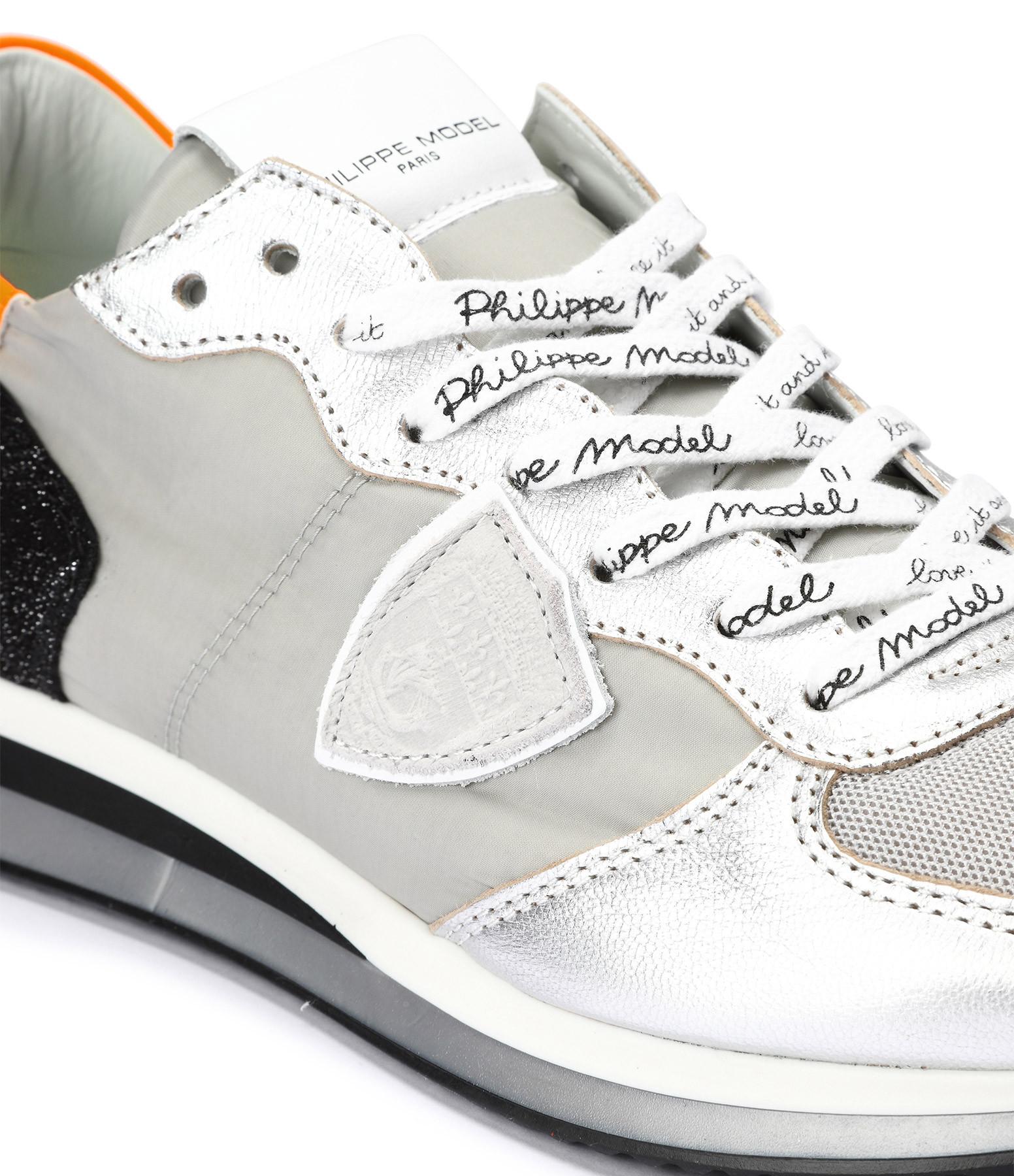 PHILIPPE MODEL - Baskets Trpx Galactique Gris Orange