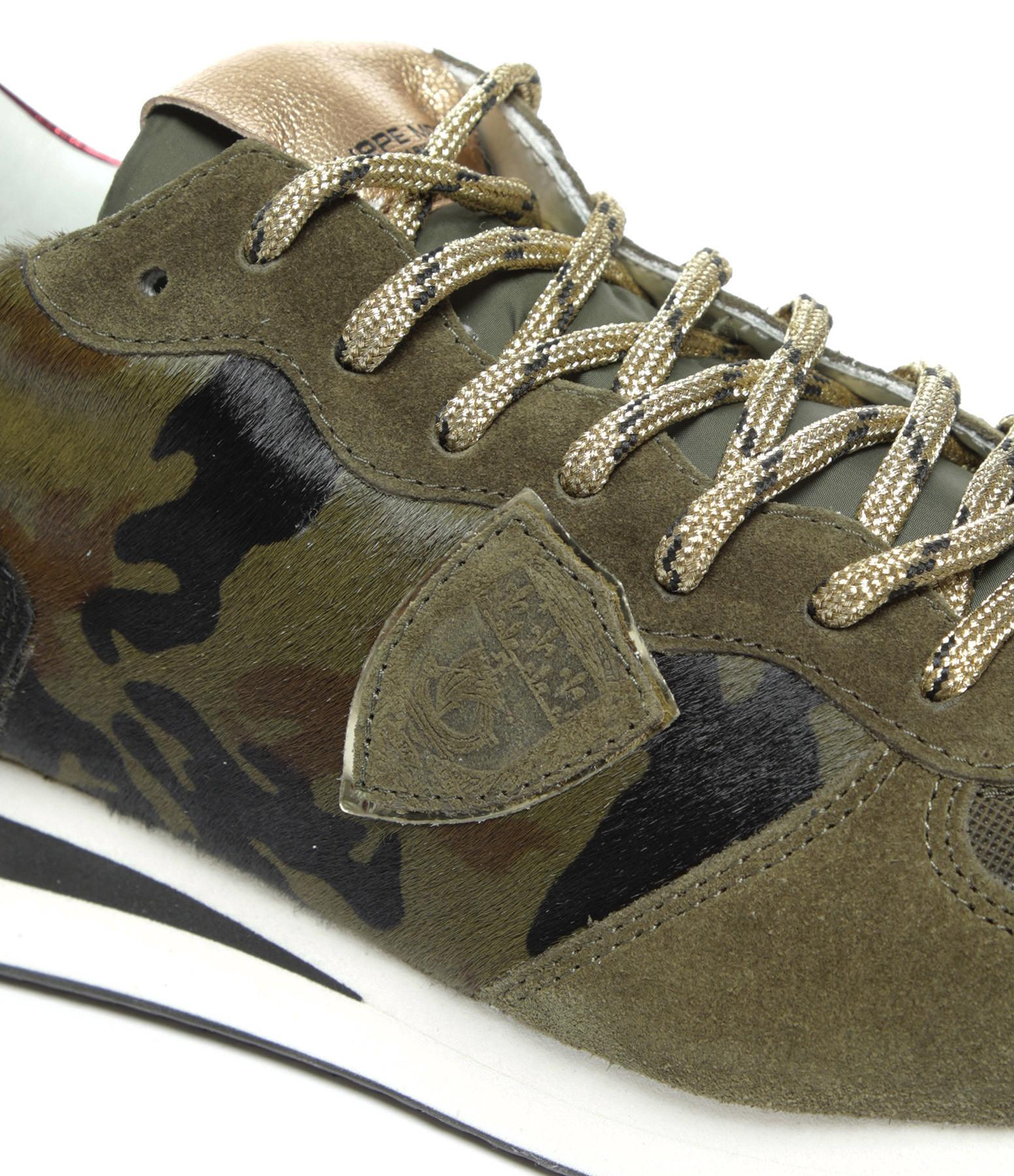 PHILIPPE MODEL - Baskets Trpx Pony Camouflage Kaki
