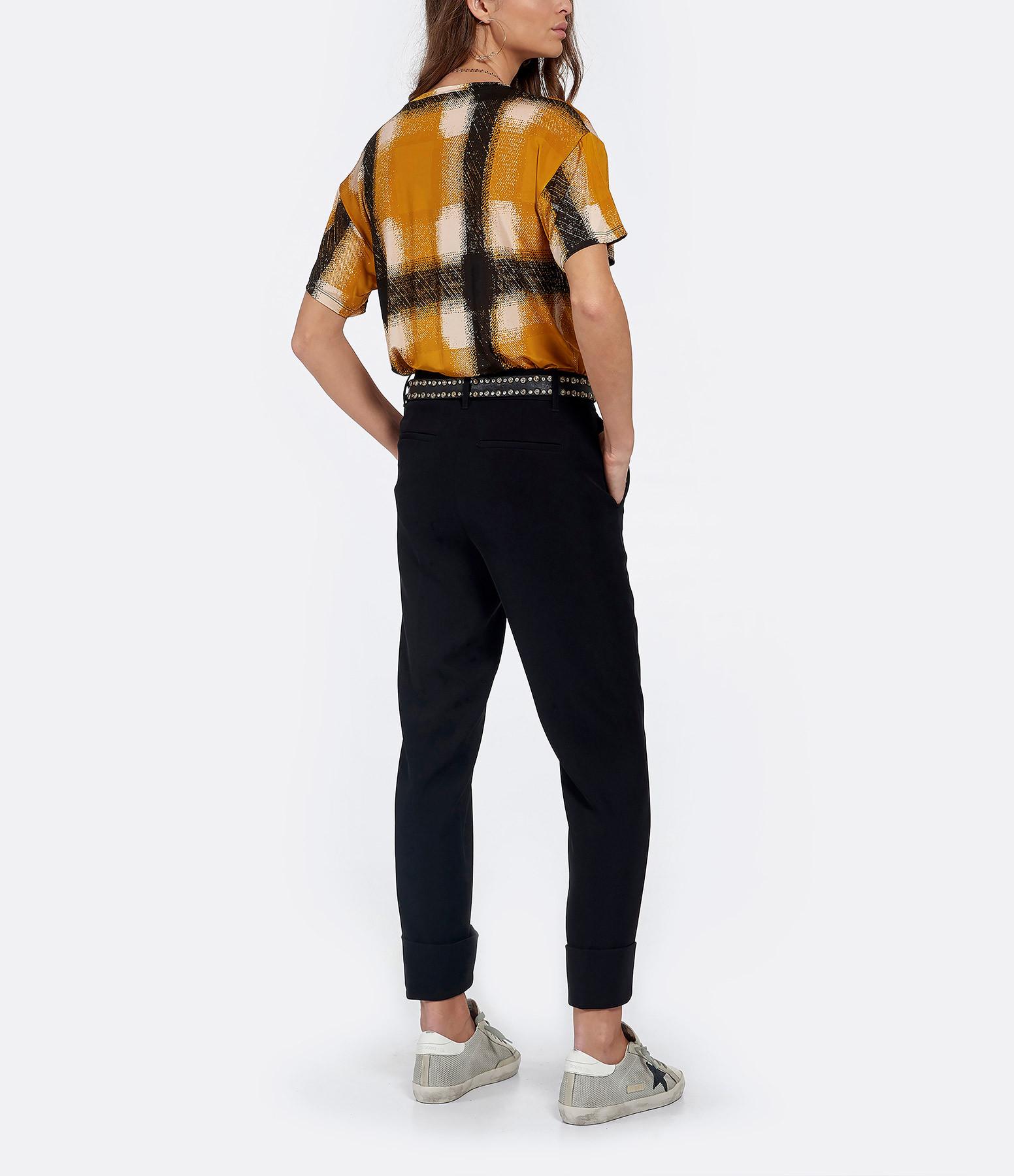RABENS SALONER - Tee-shirt Geometrique Benette Jaune
