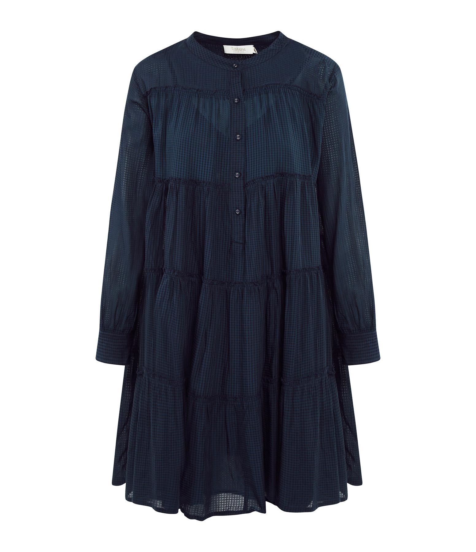 RABENS SALONER - Robe Elya Coton Noir Pirate