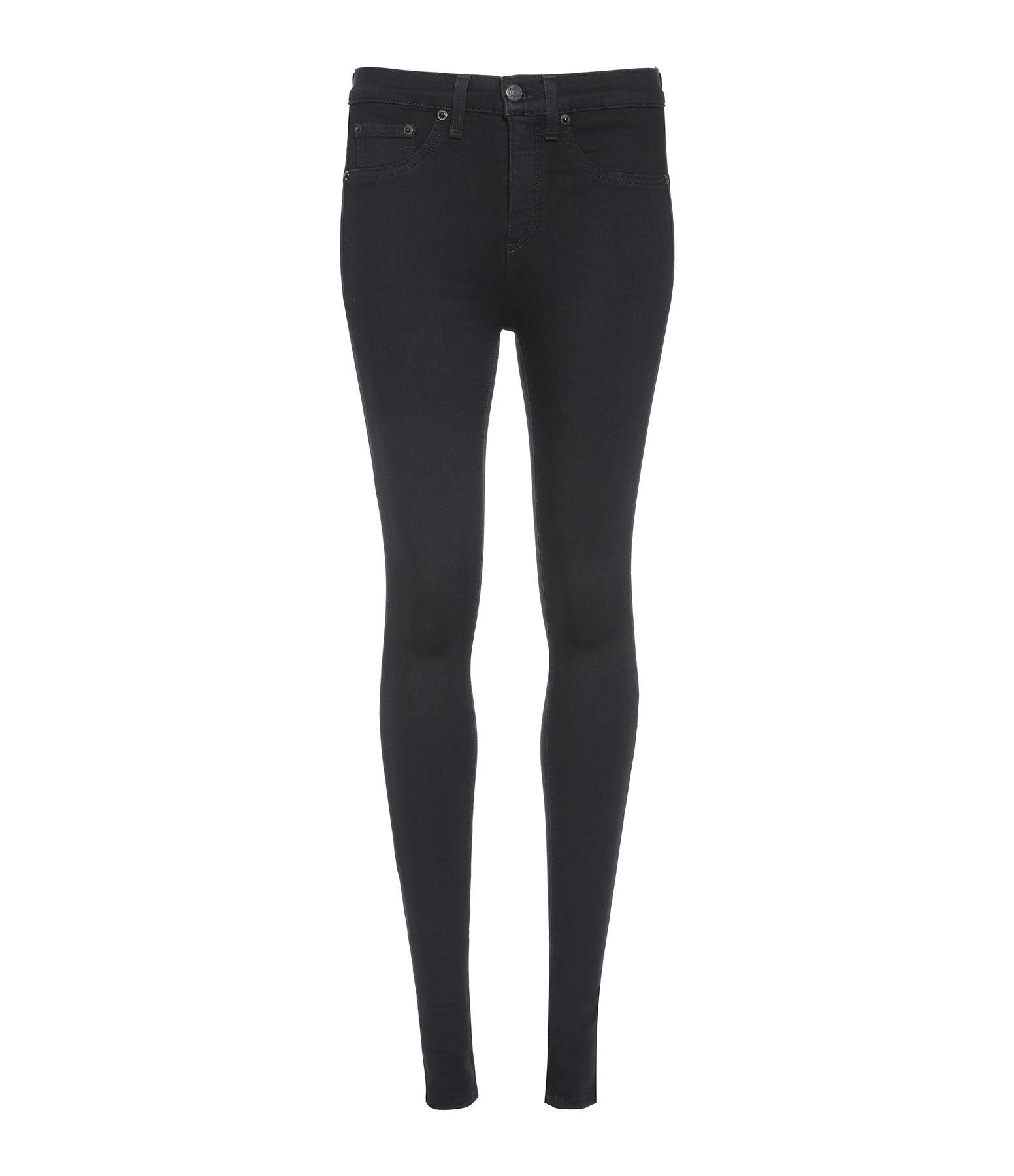 RAG & BONE - Jean High Rise Skinny Noir
