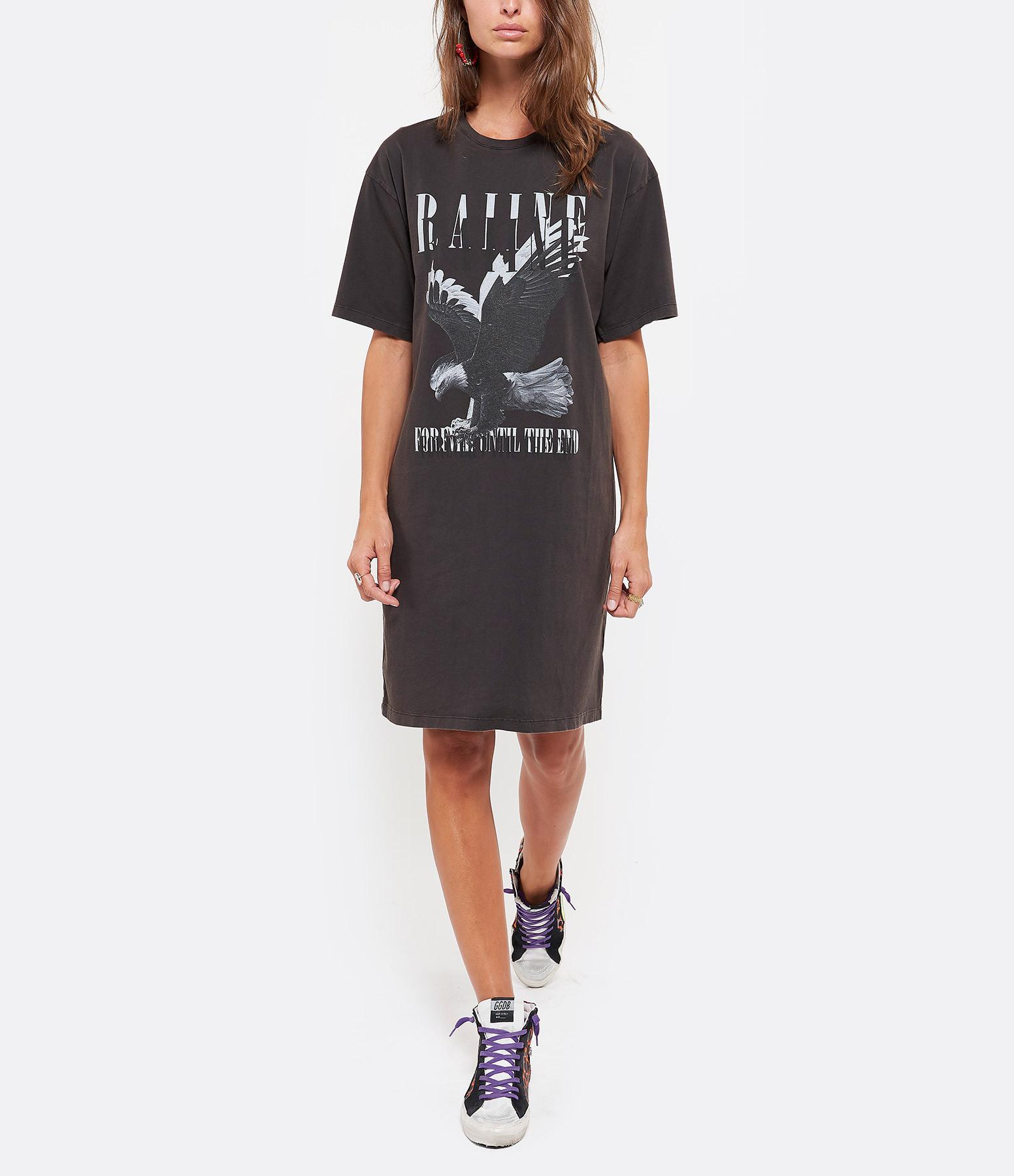 RAIINE - Tee-shirt Darvill Coton Charbon