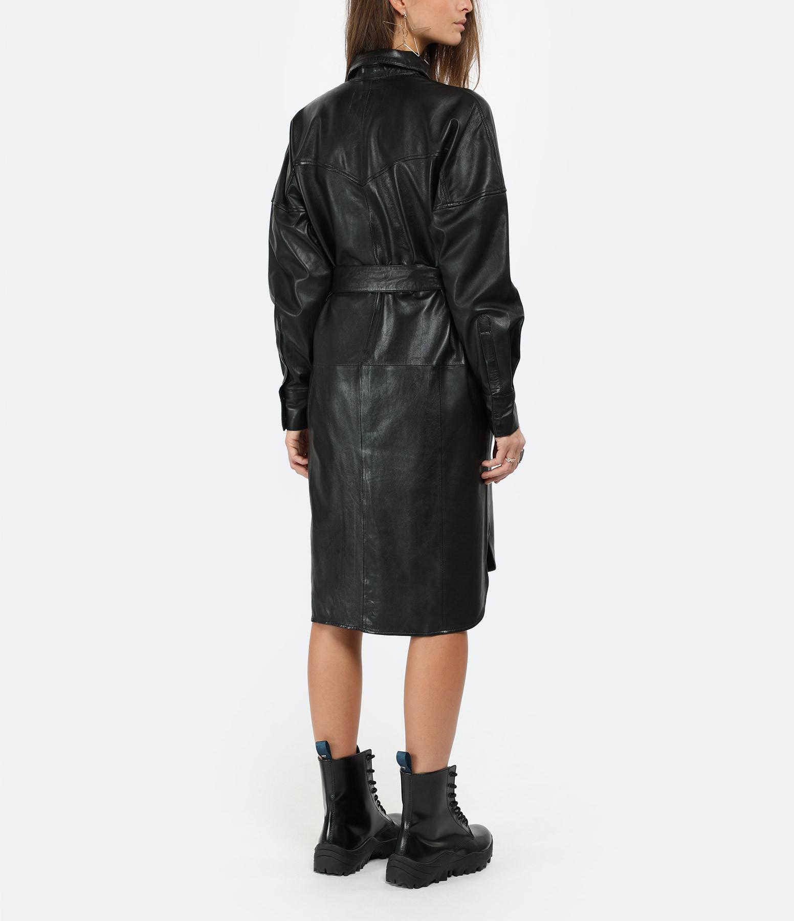 RAIINE - Robe Denton Cuir Noir