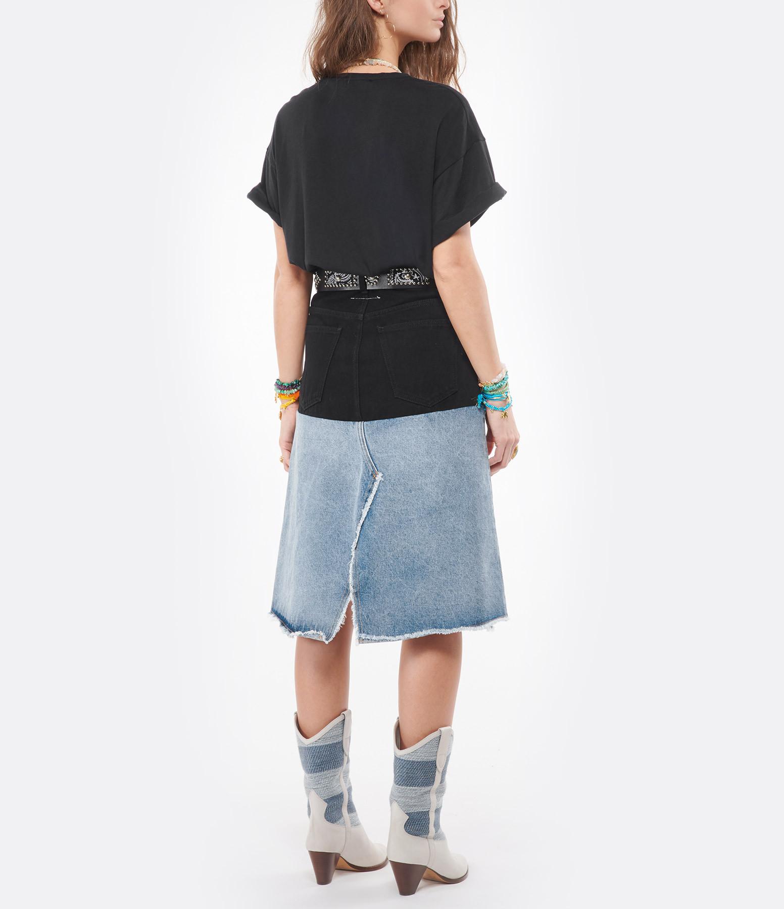 RAIINE - Tee-shirt Fox Coton Noir