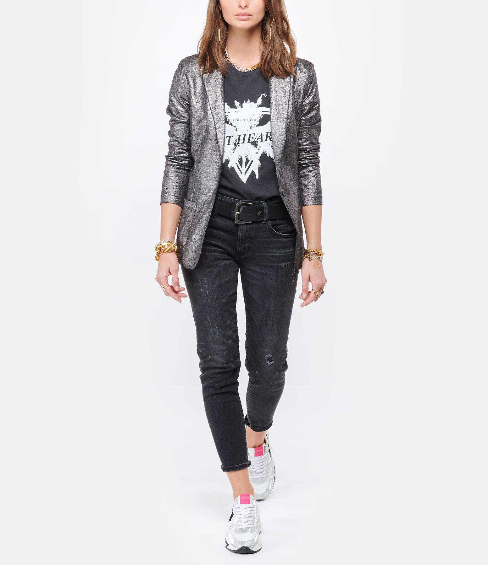 RAIINE - Tee-shirt Loup Coton Biologique Gris
