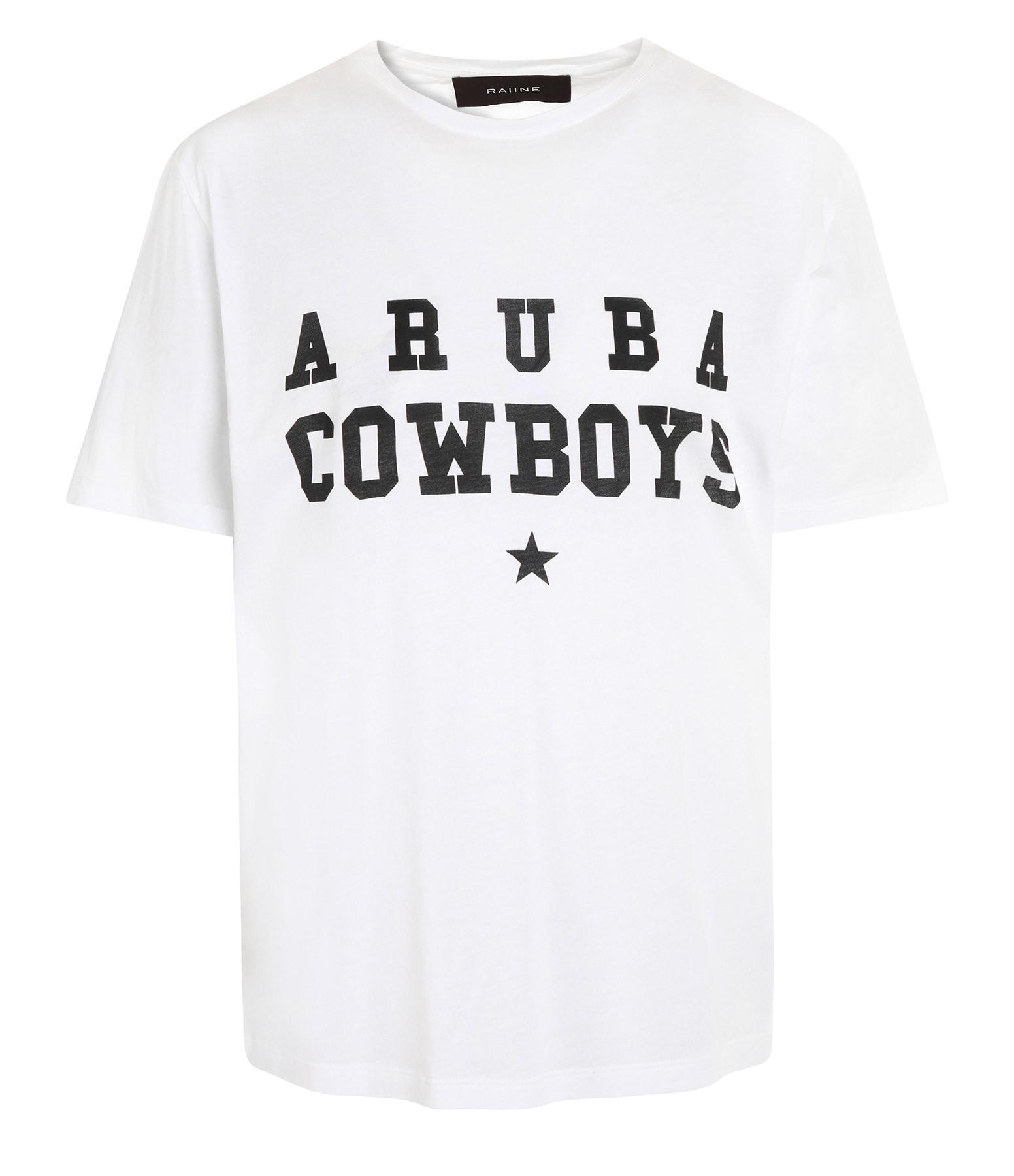 RAIINE - Tee-shirt Chiva Coton Blanc