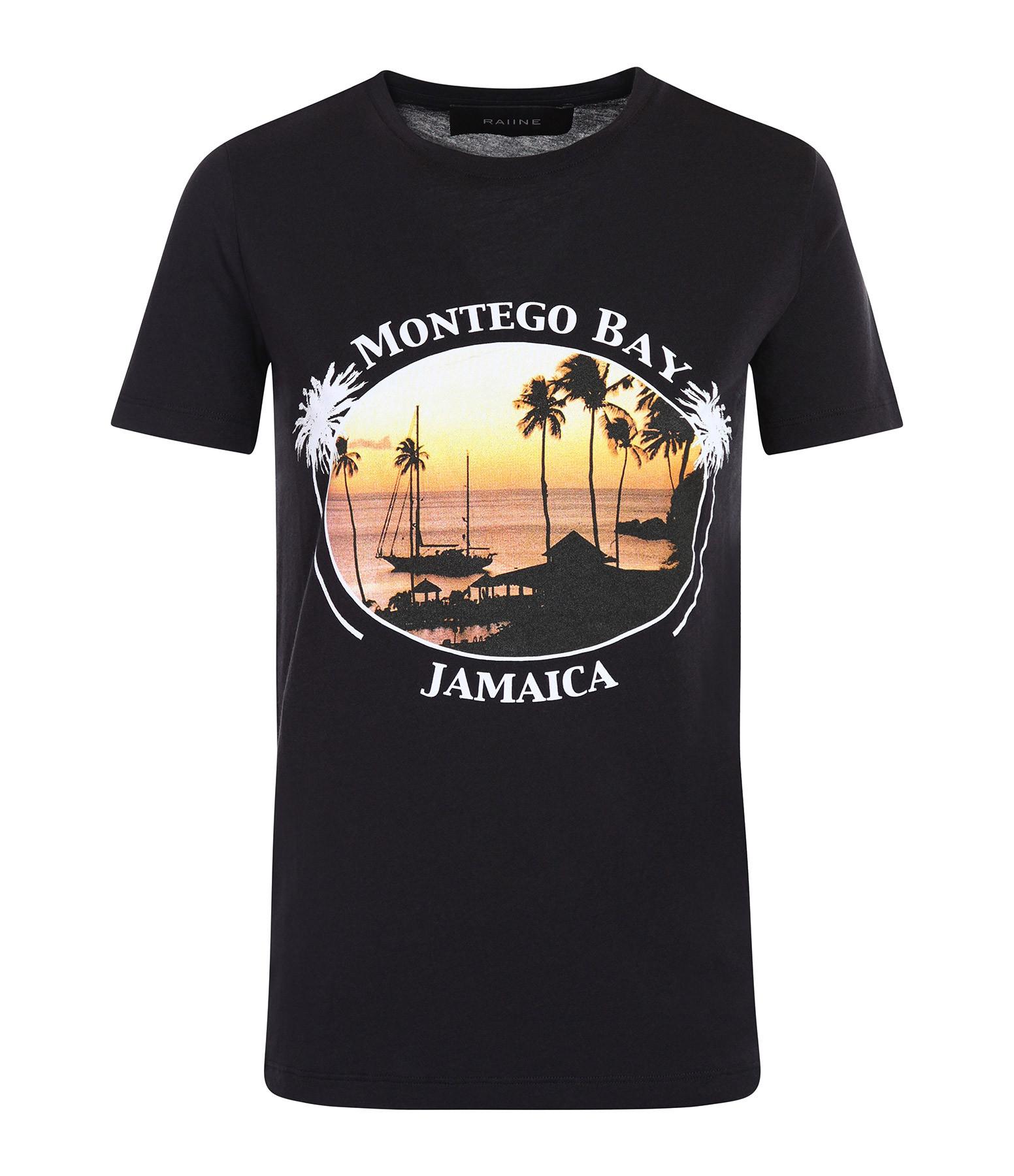 RAIINE - Tee-shirt Gannett Coton Noir