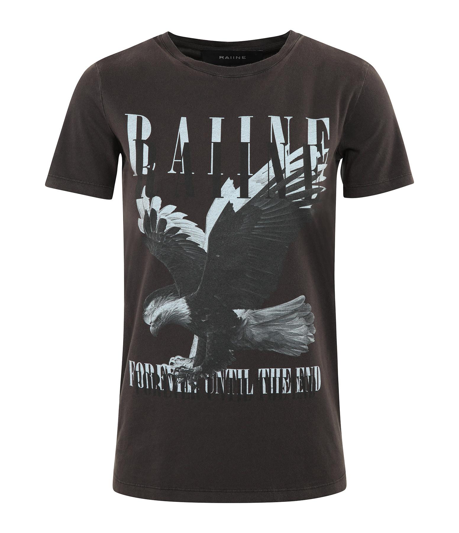 RAIINE - Tee-shirt Darby Coton Charbon