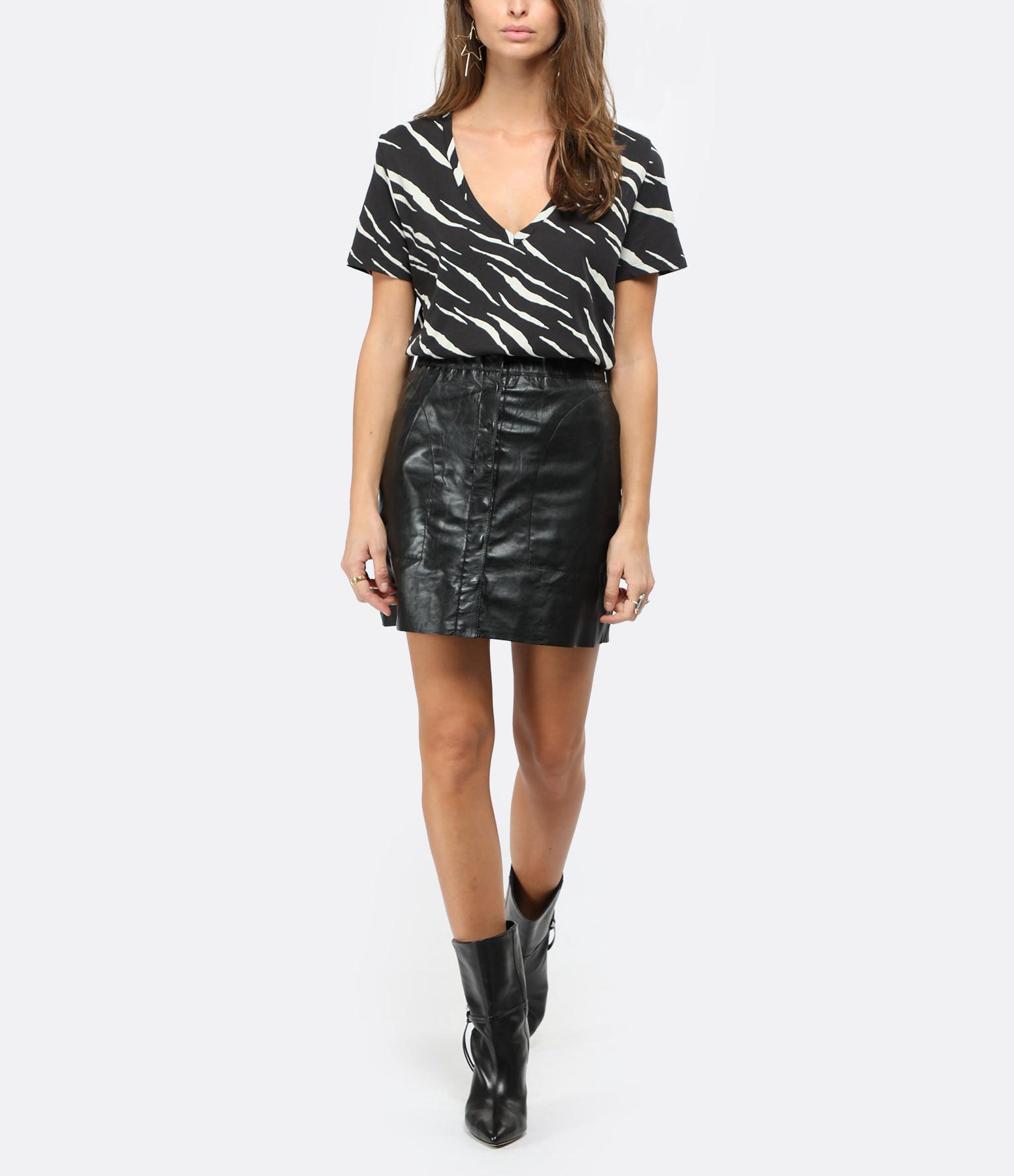 RAILS - Tee-shirt Cara Imprimé Tigre Blanc Noir