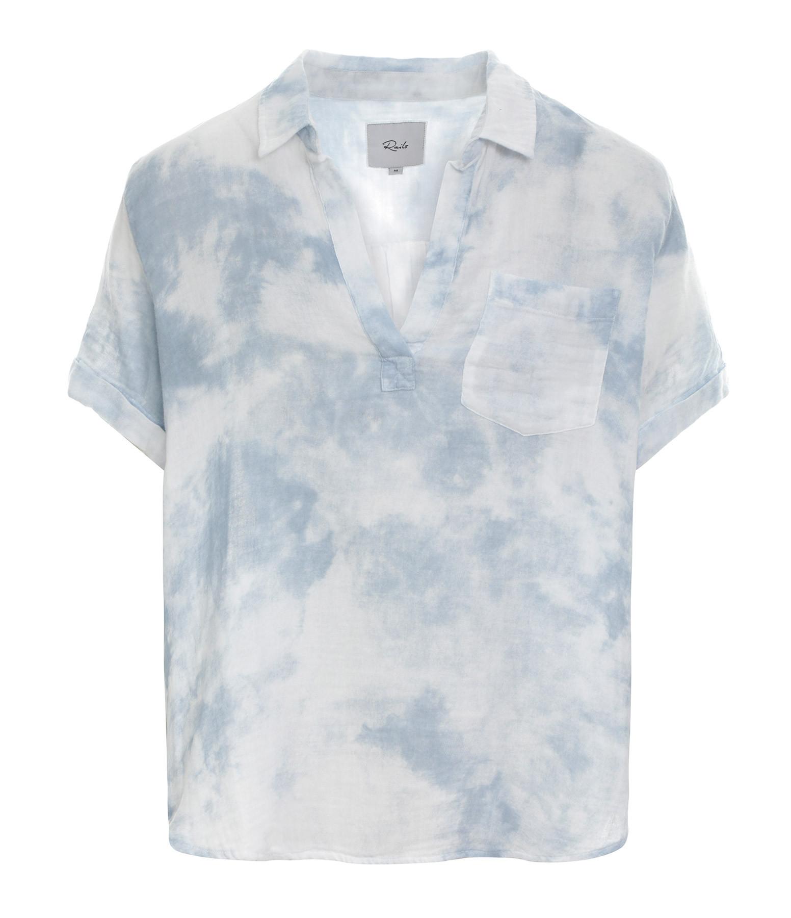 RAILS - Chemise Savannah Coton Tie and Dye Bleu