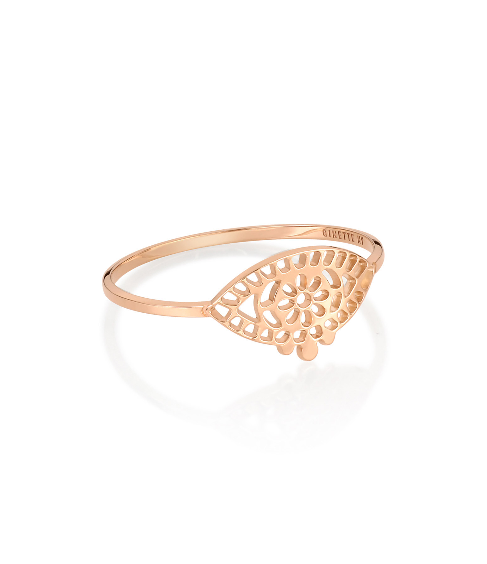 GINETTE NY - Bague Ajna Or Rose