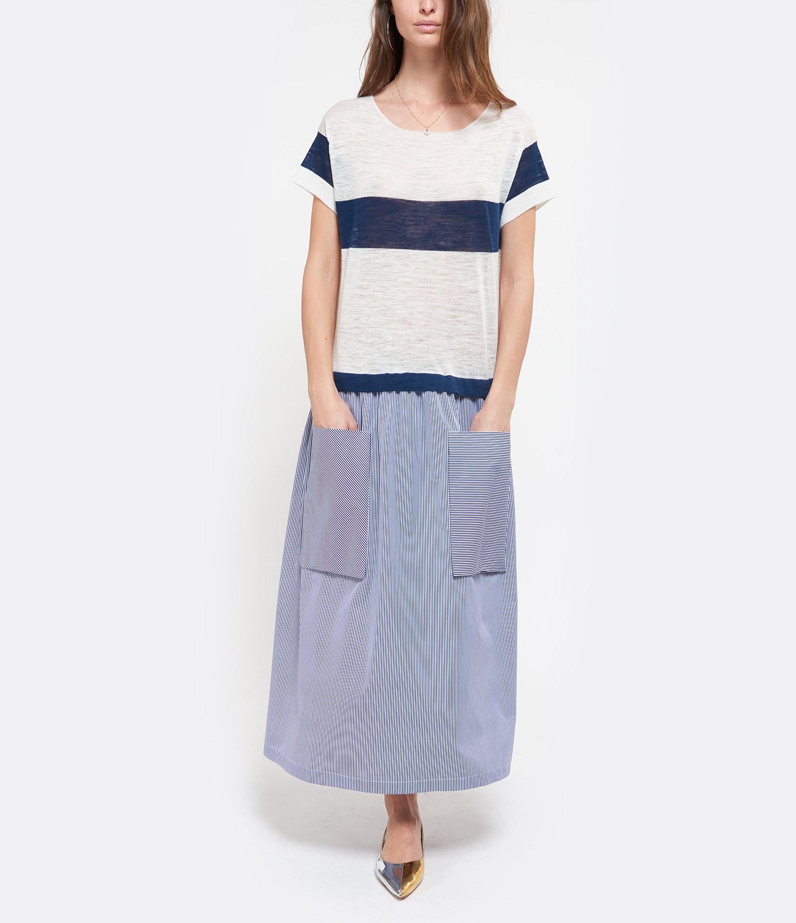 ROBERTO COLLINA - Robe Rayures Imprimé Bleu