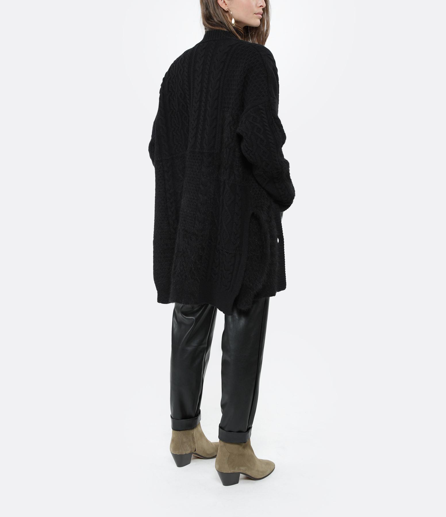 ROBERTO COLLINA - Manteau Coreana Patch Laine Noir