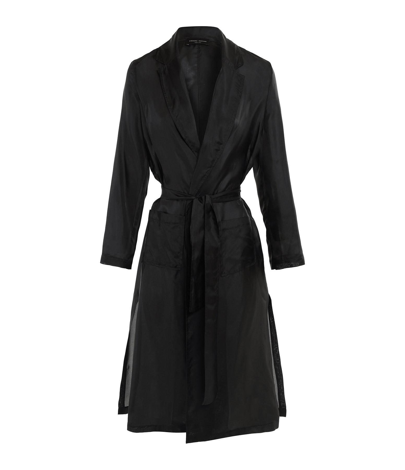ROBERTO COLLINA - Kimono Soie Noir