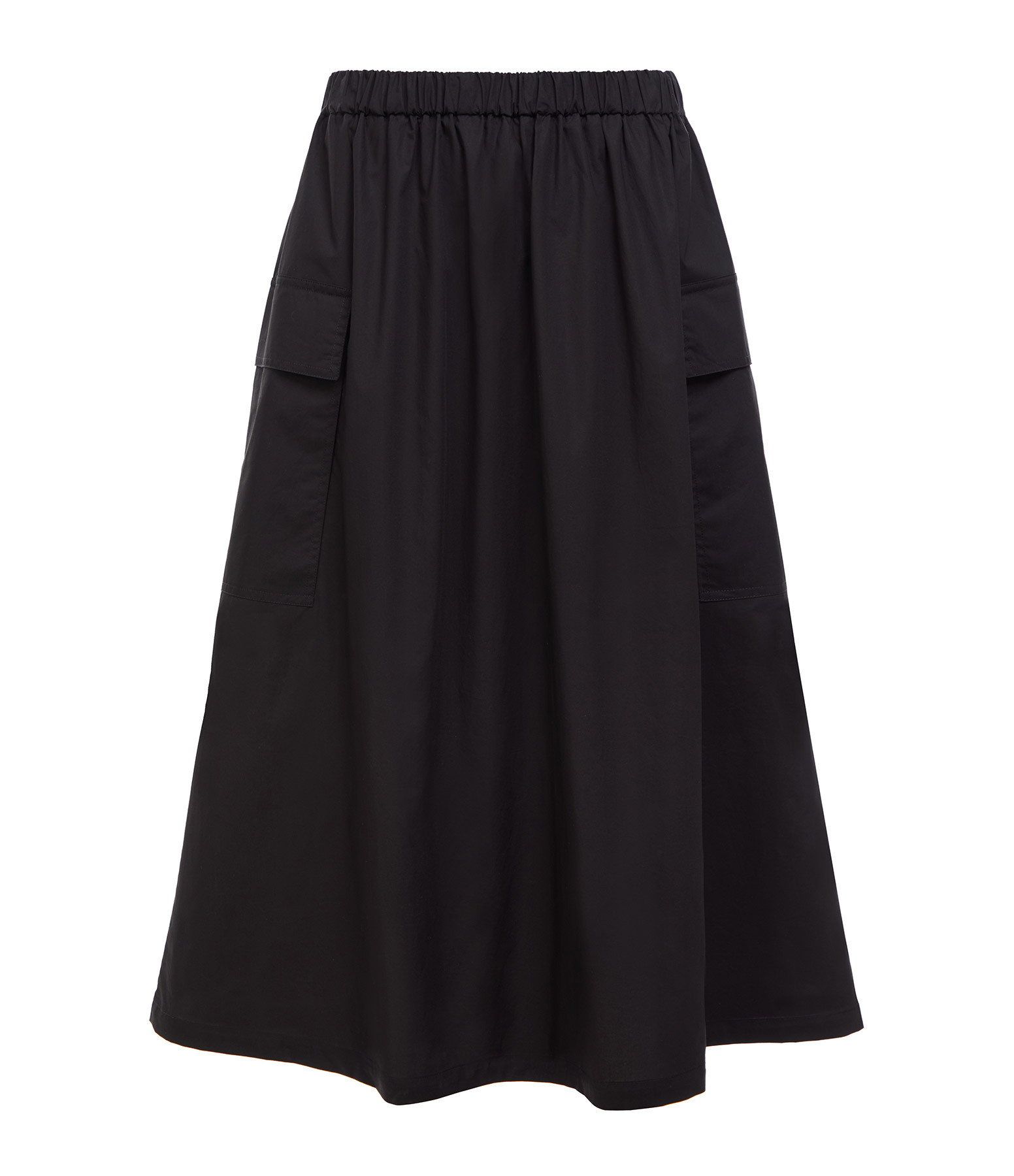 ROBERTO COLLINA - Jupe Poches Coton Noir