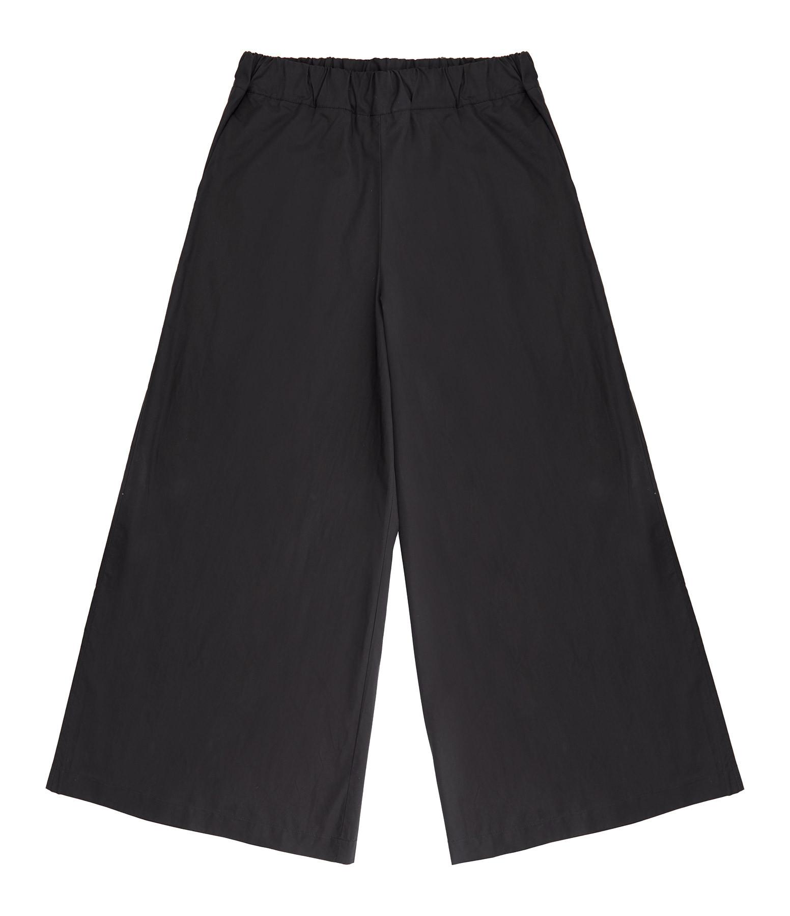 ROBERTO COLLINA - Pantalon Coton Noir