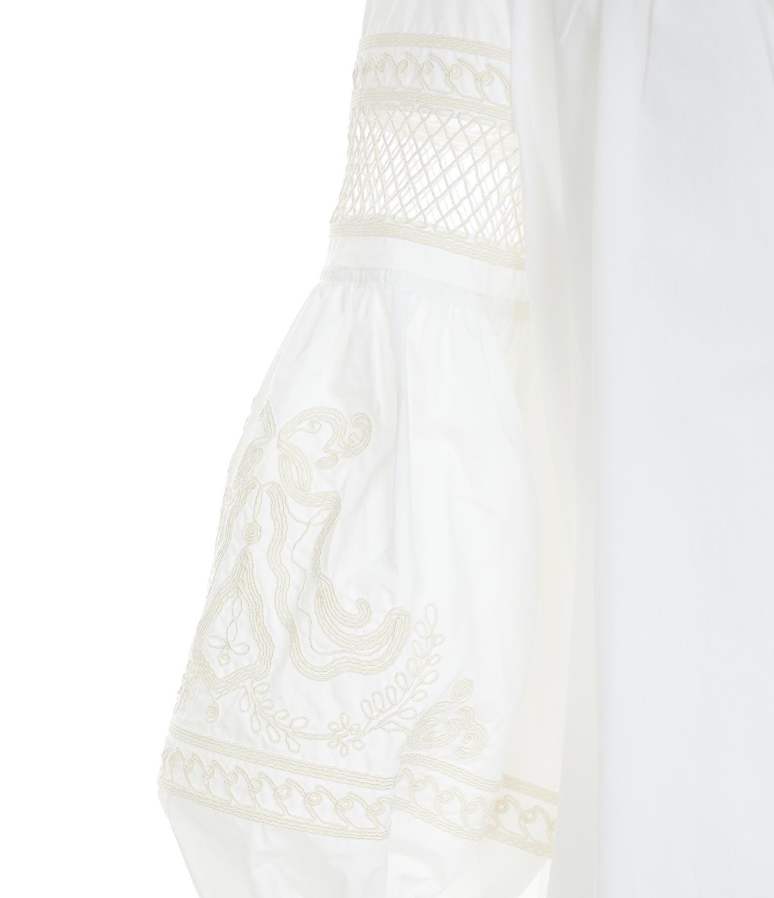 ROBERTO COLLINA - Caftan Long Coton Broderie Blanc