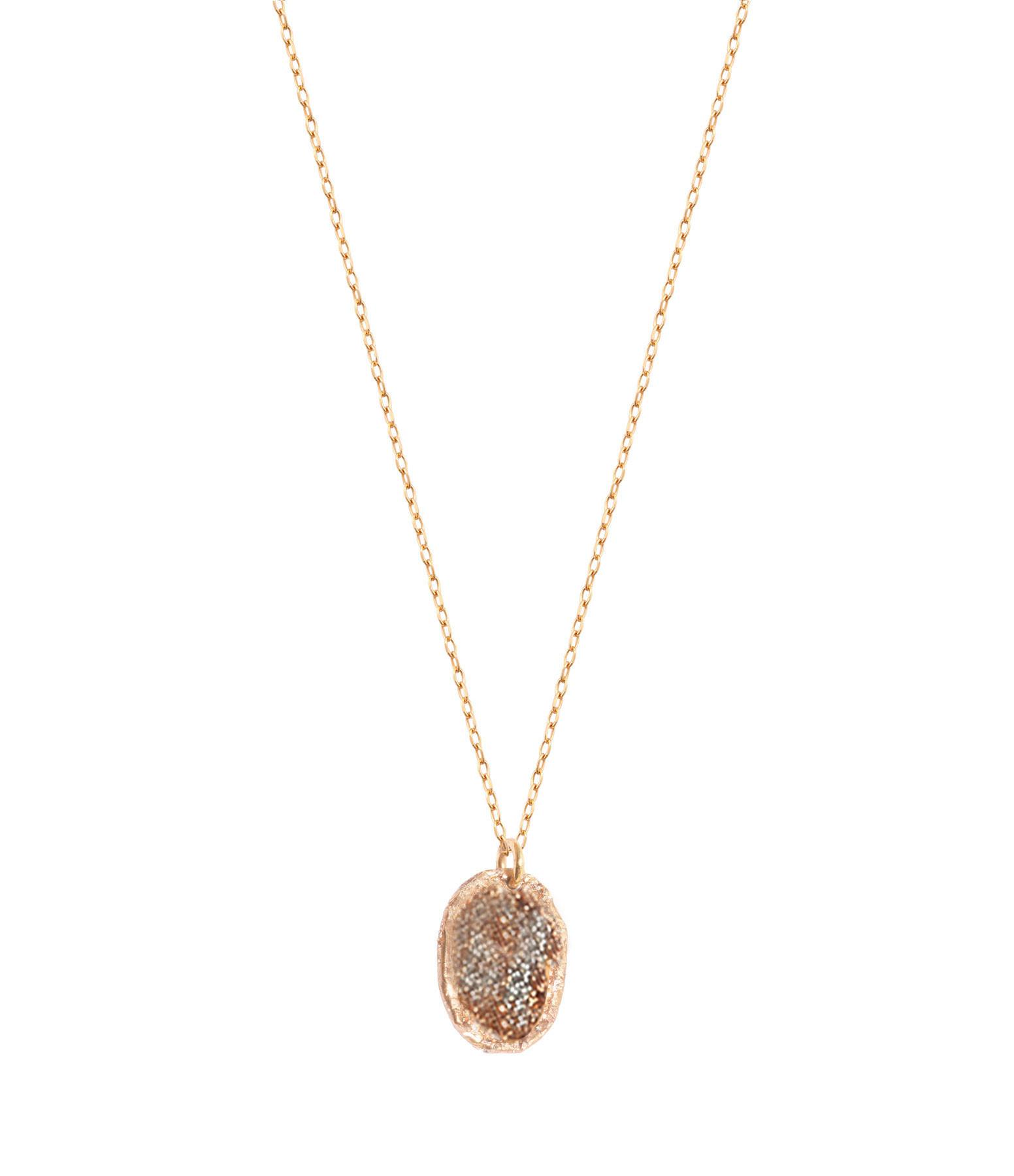 LSONGE - Collier Eclat Médaille M Argent Doré